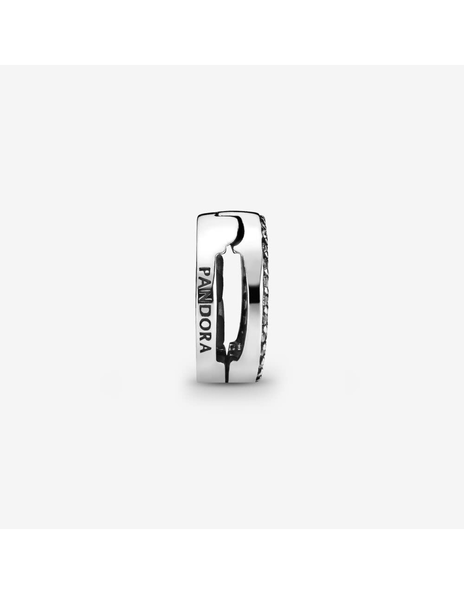 Pandora Pandora Reflexions Clip Charm In Sterling Silver With 69 Pav-Set Clear CZ