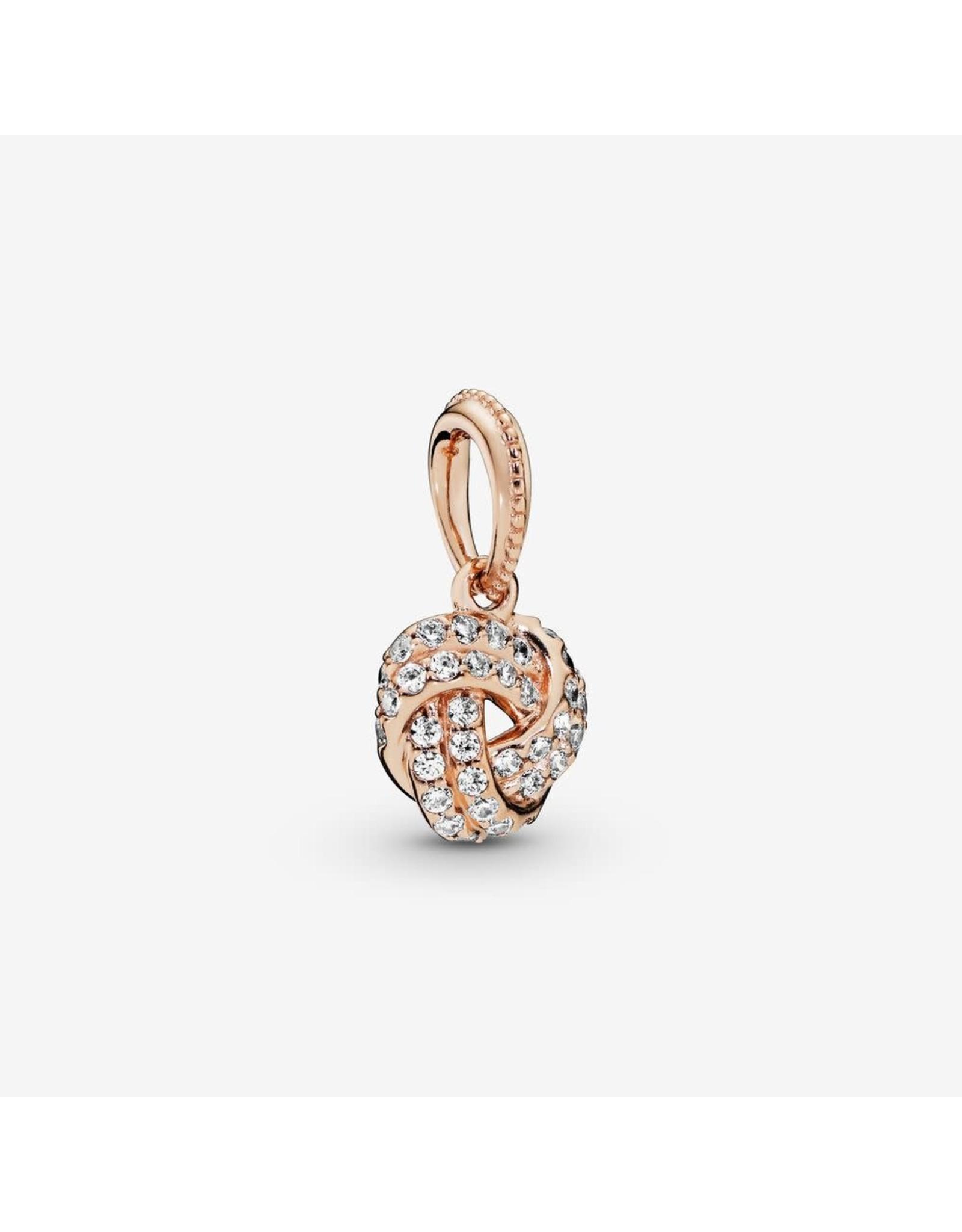 Pandora Pandora Rose Gold Shimmering Knot Pendant