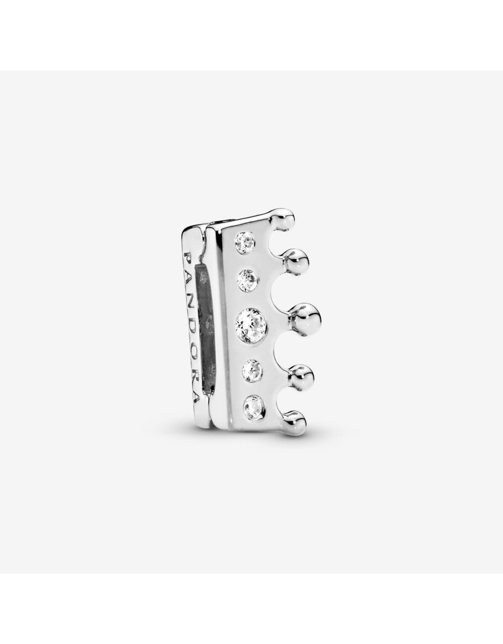 Pandora Pandora Reflexions Crown Clip In Sterling Silver With 5 Flush-Set Clear CZ