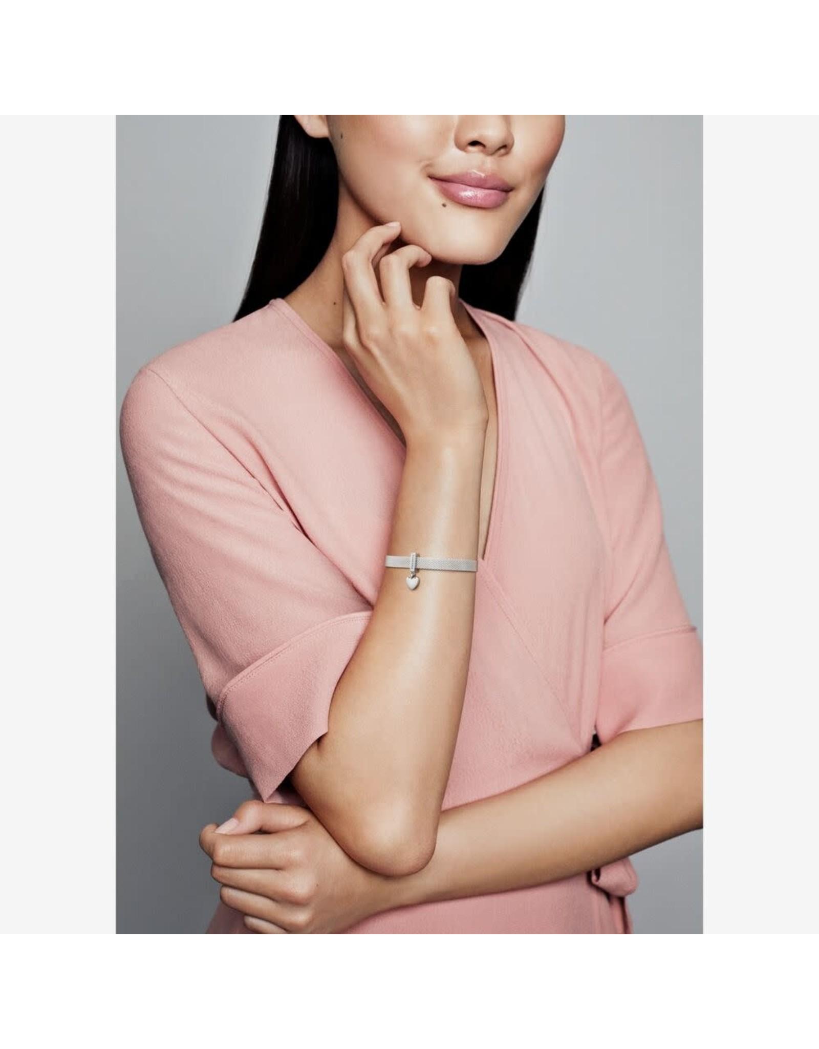 Pandora Pandora Reflexions Dangling Heart Clip Charm In Sterling Silver