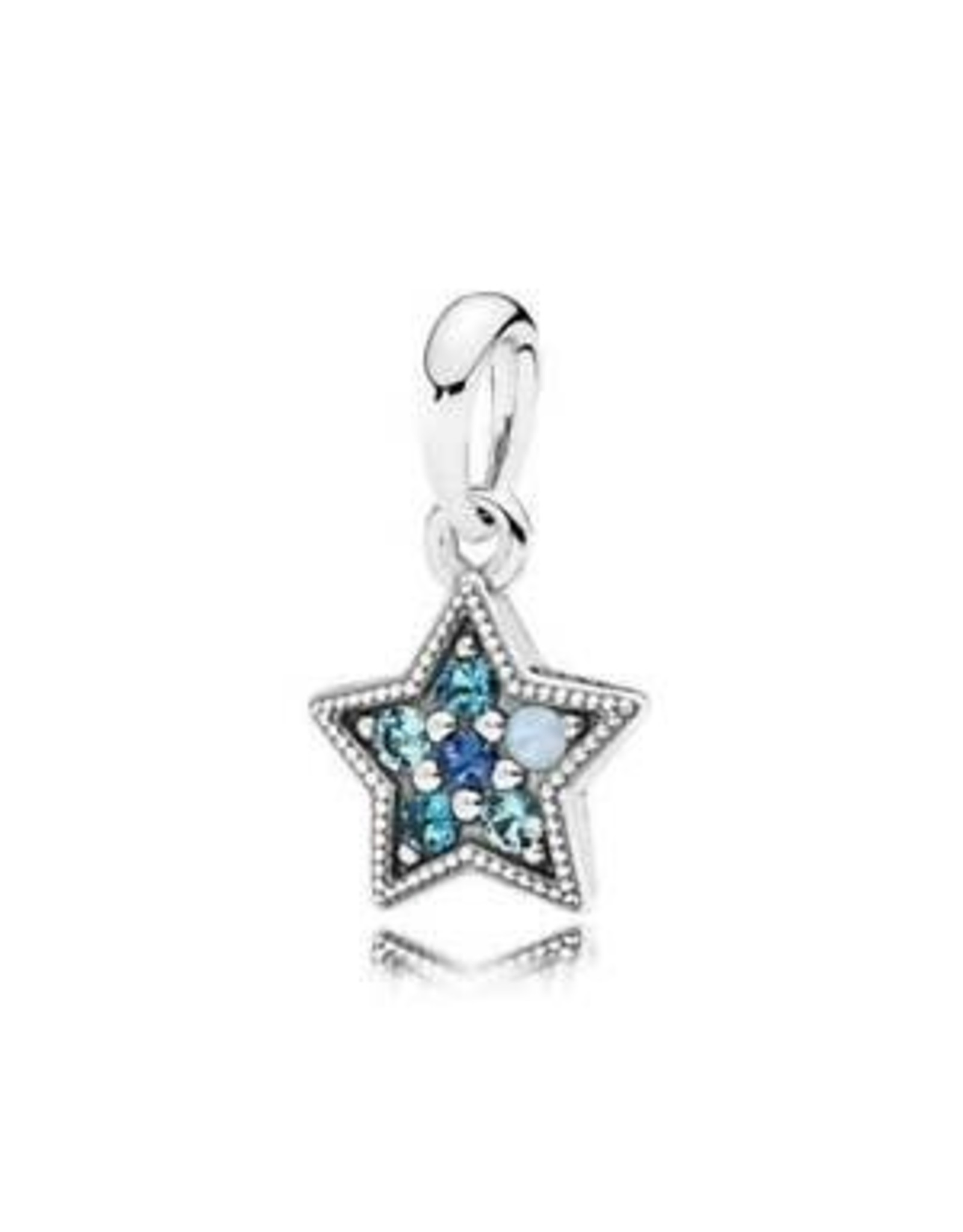 Pandora Pandora Star Pendant With Swiss Blue, Opalescent, Sky, And Royal Blue Crystals