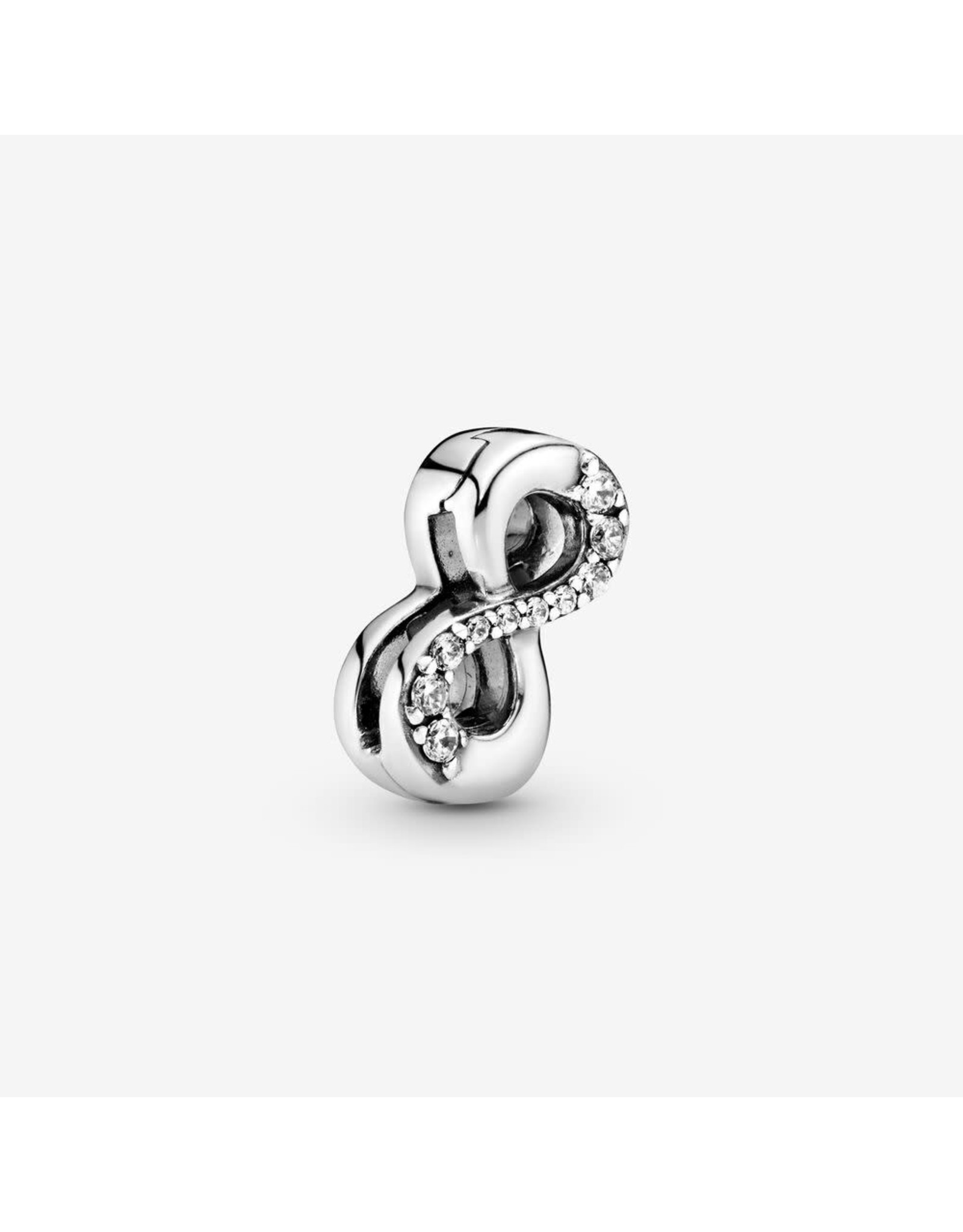 Pandora Pandora Reflexions Infinity Clip Charm In Sterling Silver With 10 Bead-Set Clear CZ