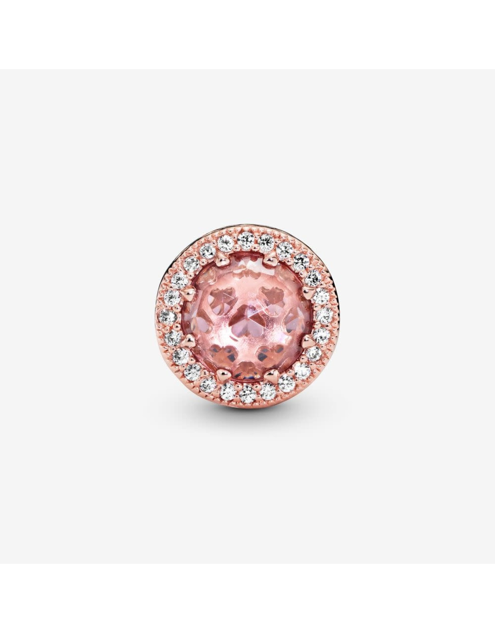 Pandora Pandora Charm Rose Gold Blush Pink Crystals Clear CZ