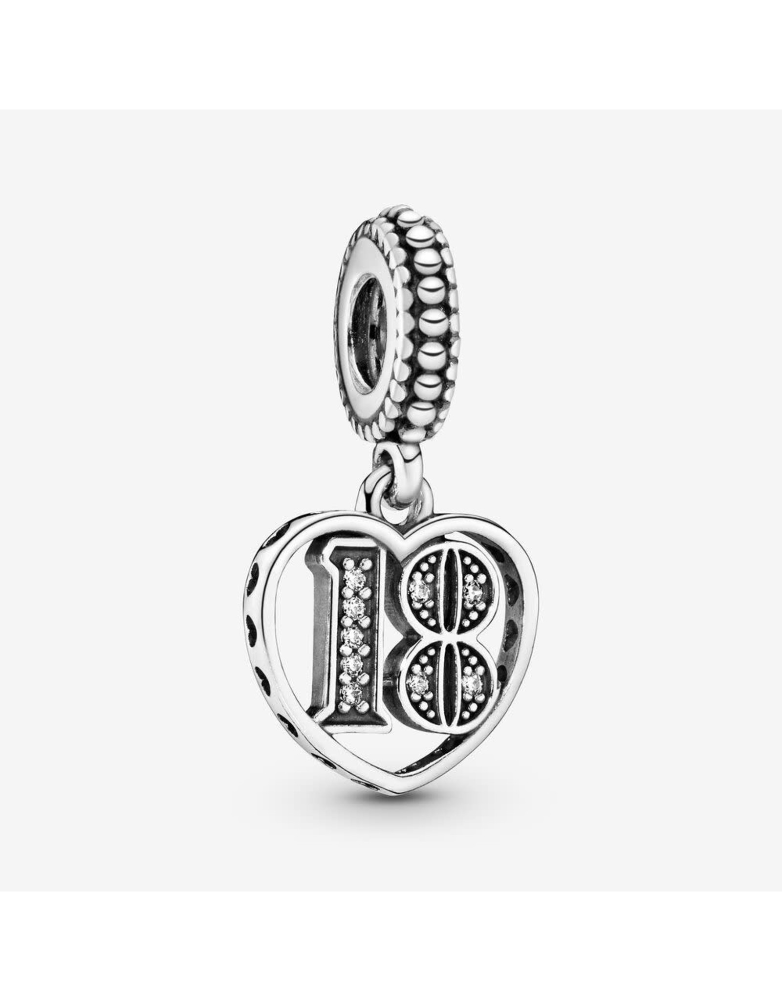 Pandora Pandora Charm 18 Years of Love, Clear CZ