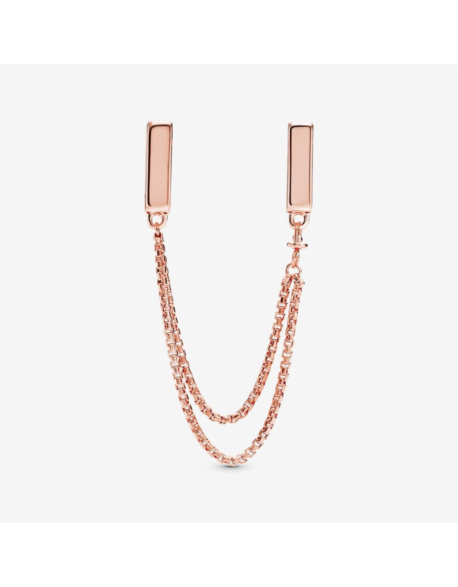 Pandora Pandora Reflexions Safety Chain In Rose Gold 50 mm