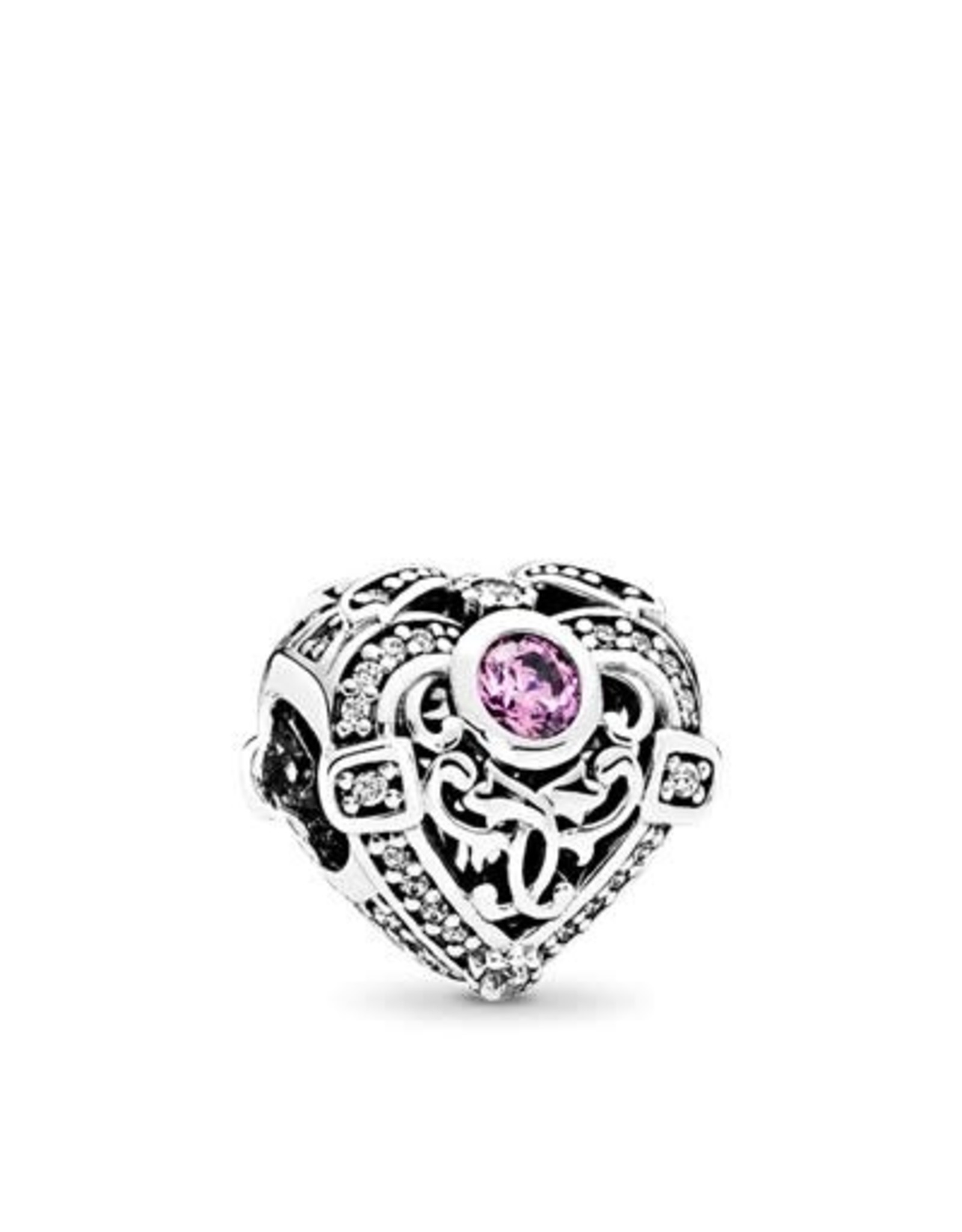 Pandora Pandora Opulent Heart With Orchid And Clear CZ