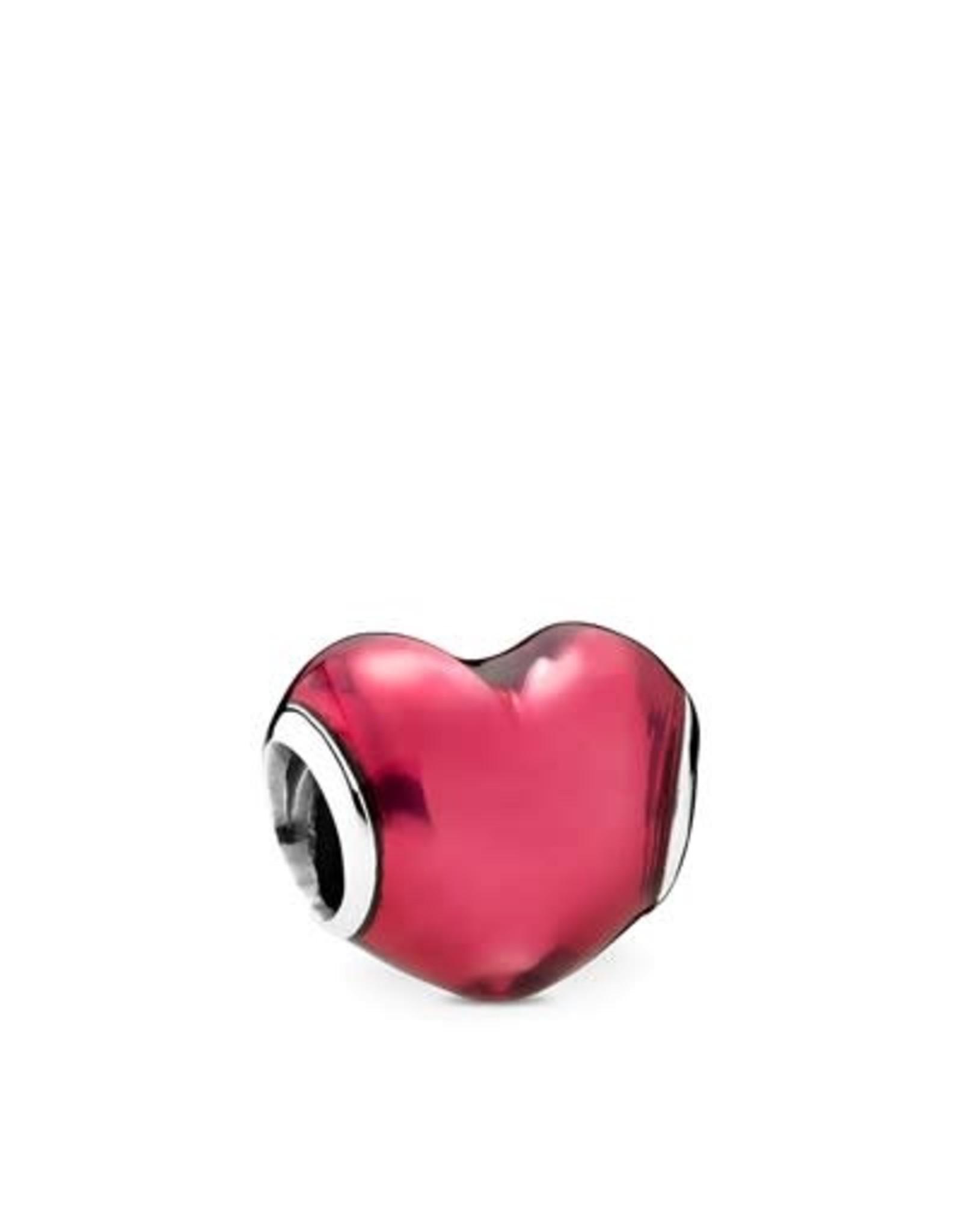 Pandora Panodra In My Heart, Transparent Fuchsia Enamel