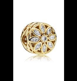 Pandora Pandora Opulent Flower Clip, Clear CZ 14K Gold