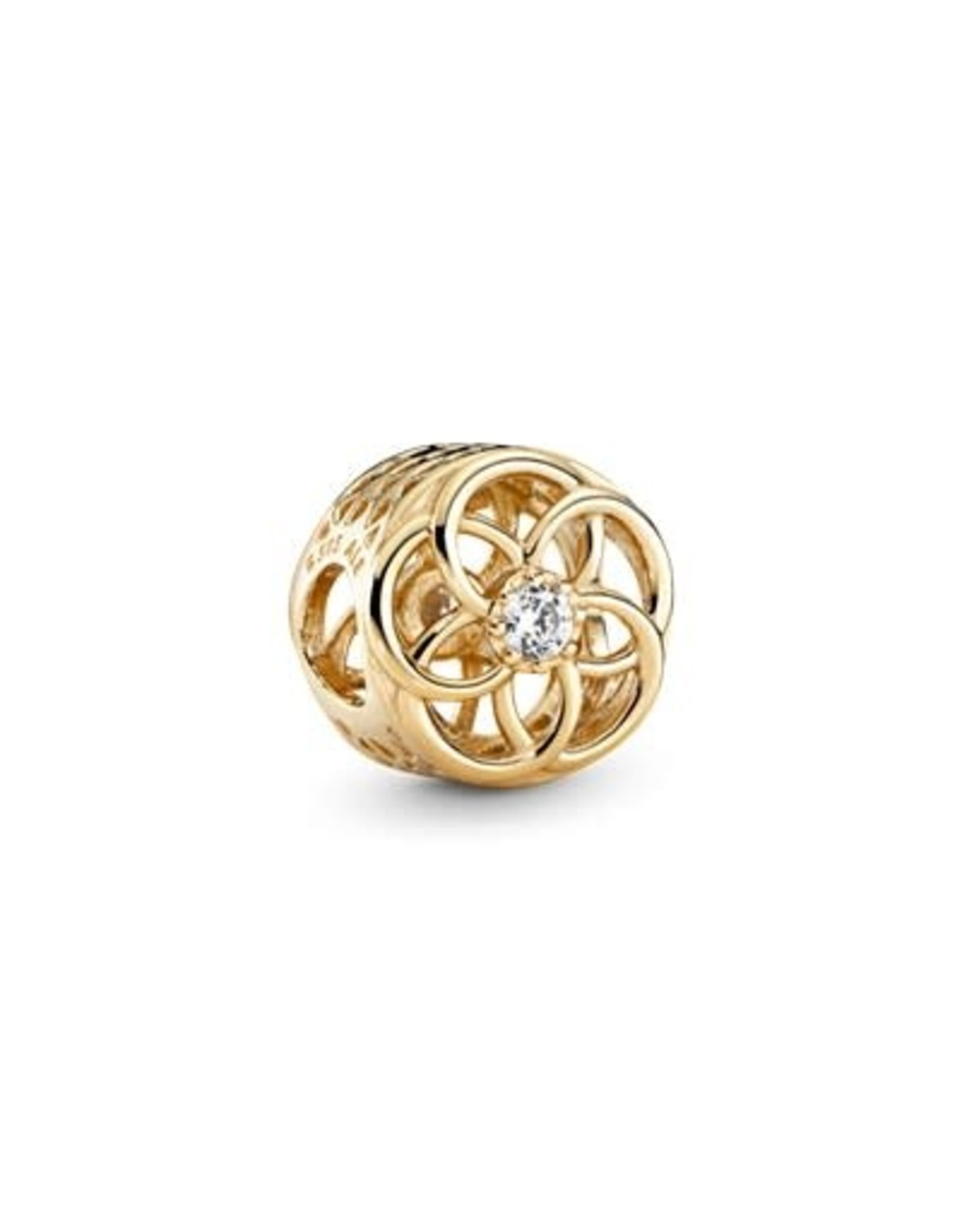 Pandora Pandora Charm Loving Bloom Clear CZ,14K Gold