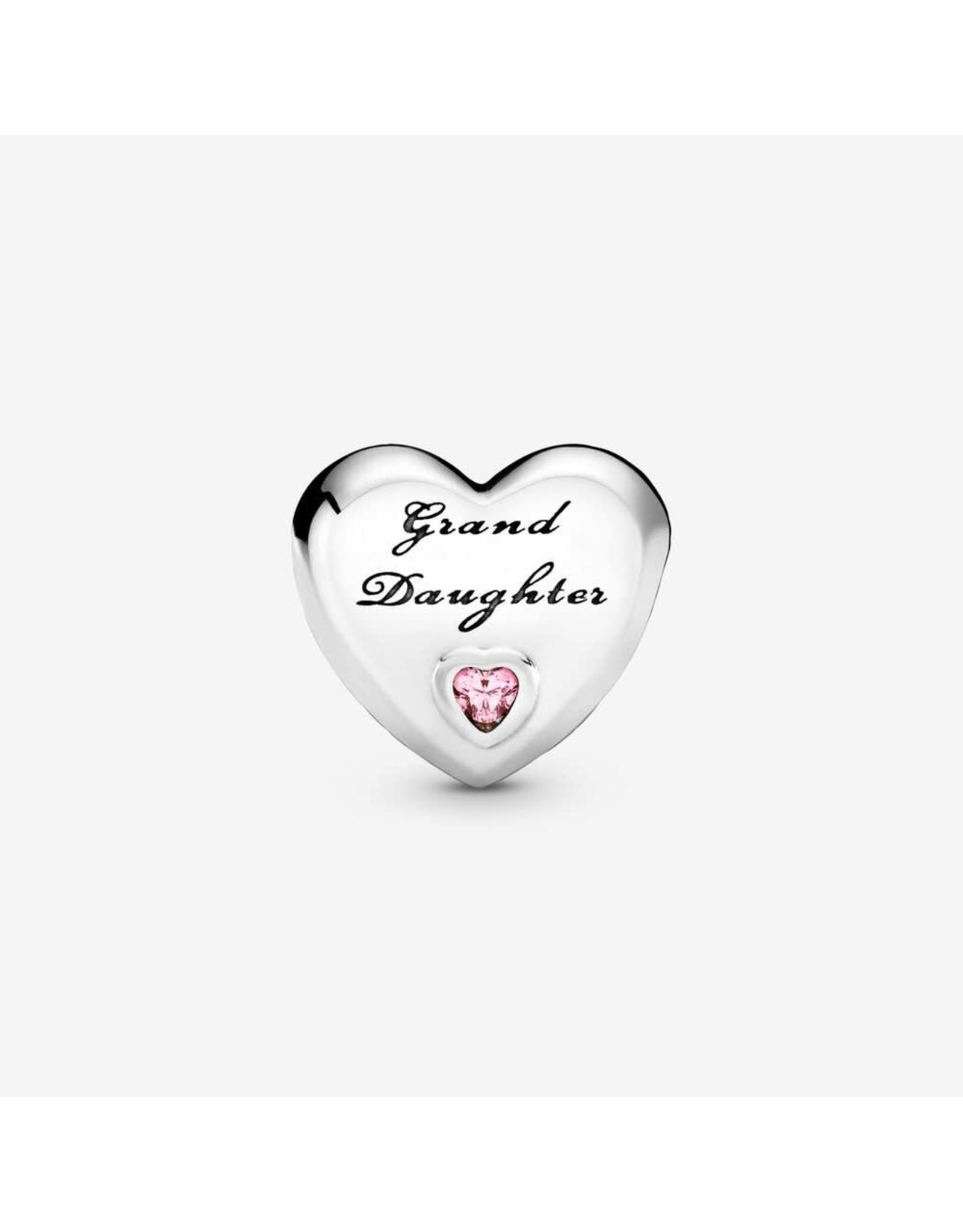 Pandora Pandora Charm,796261PCZ, Granddaughter's Love Pink CZ