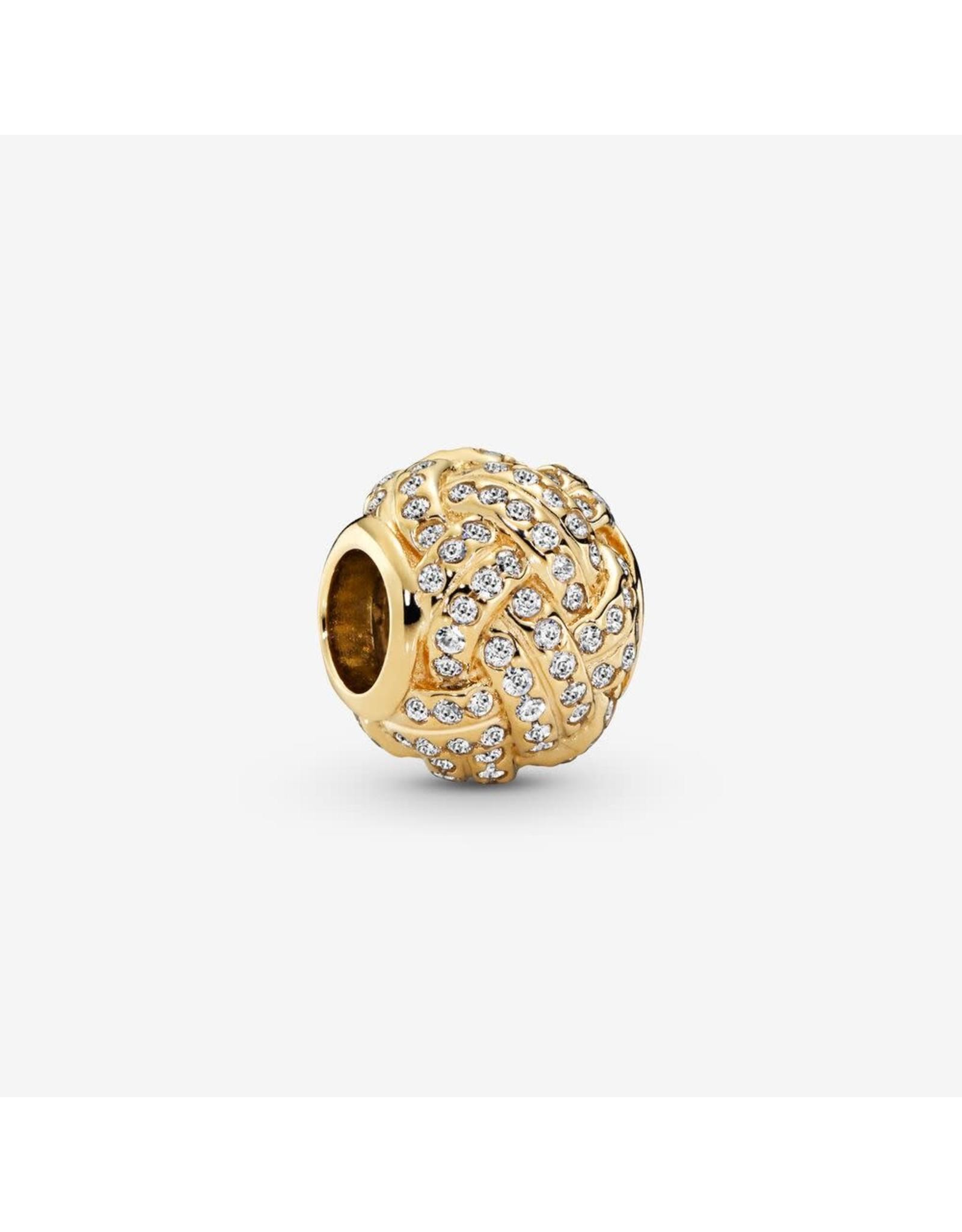 Pandora Pandora Sparkling Love Knot Clear CZ, 14K Gold