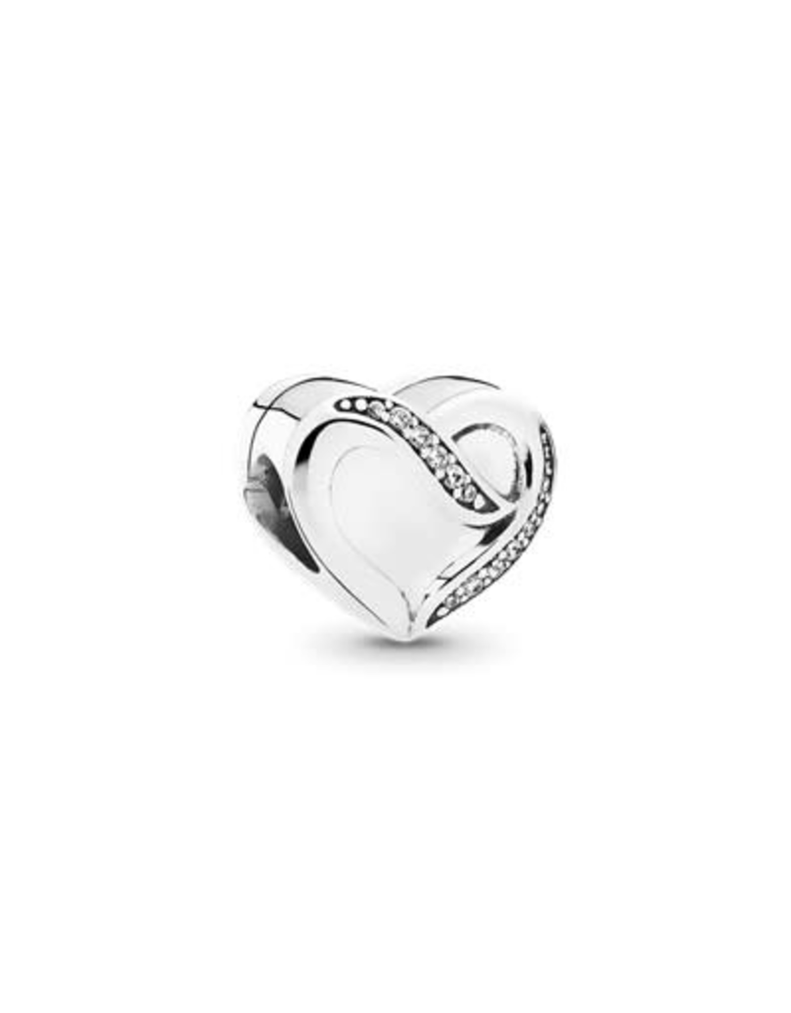 Pandora Pandora Charm,791816CZ, Heart Ribbon Of Love Clear CZ