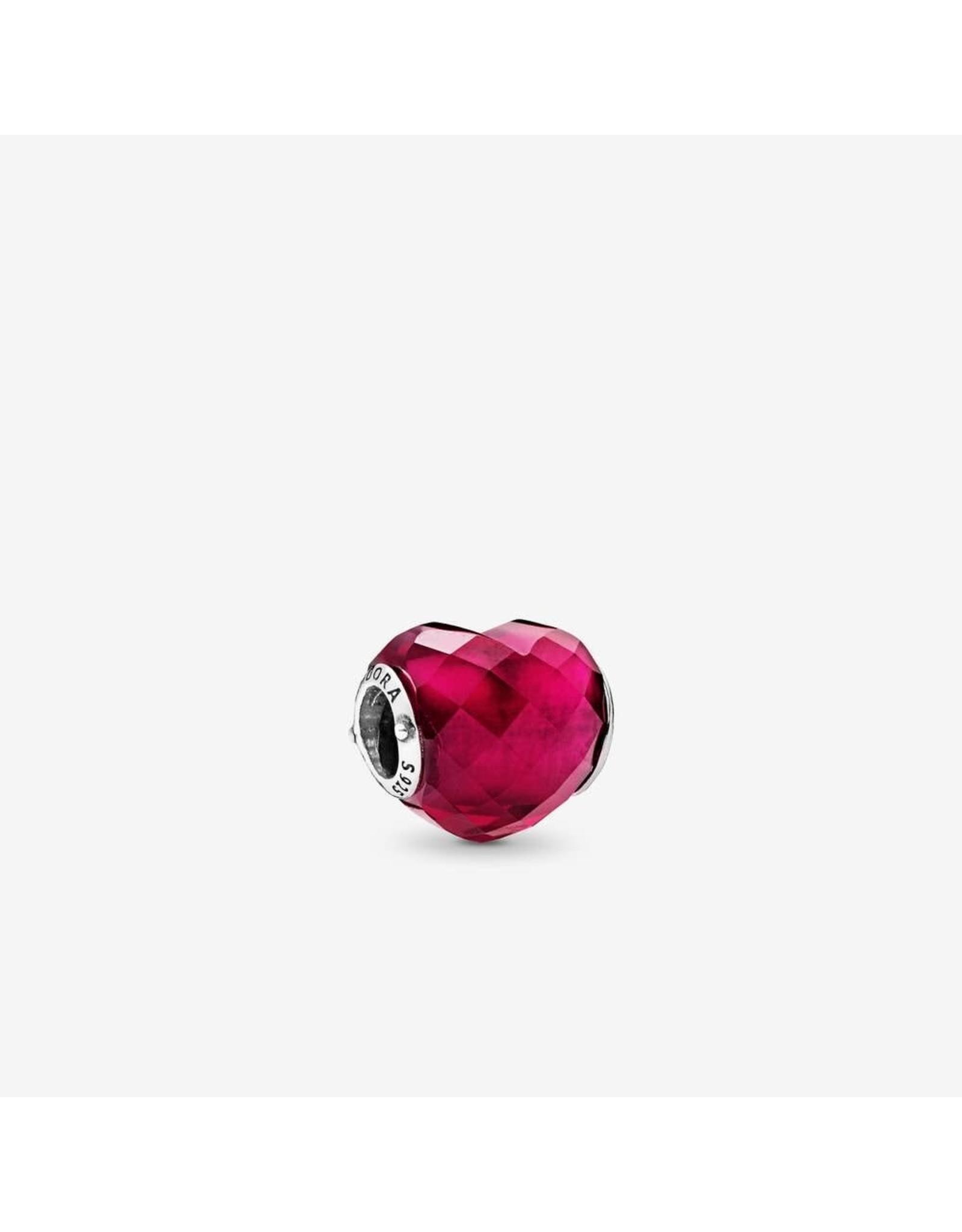 Pandora Pandora Heart Shape Of Love, Fushsia Rose Crystal