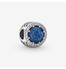 Pandora Pandora Charm Radiant Hearts, Moonlight Blue Crystal And Clear CZ
