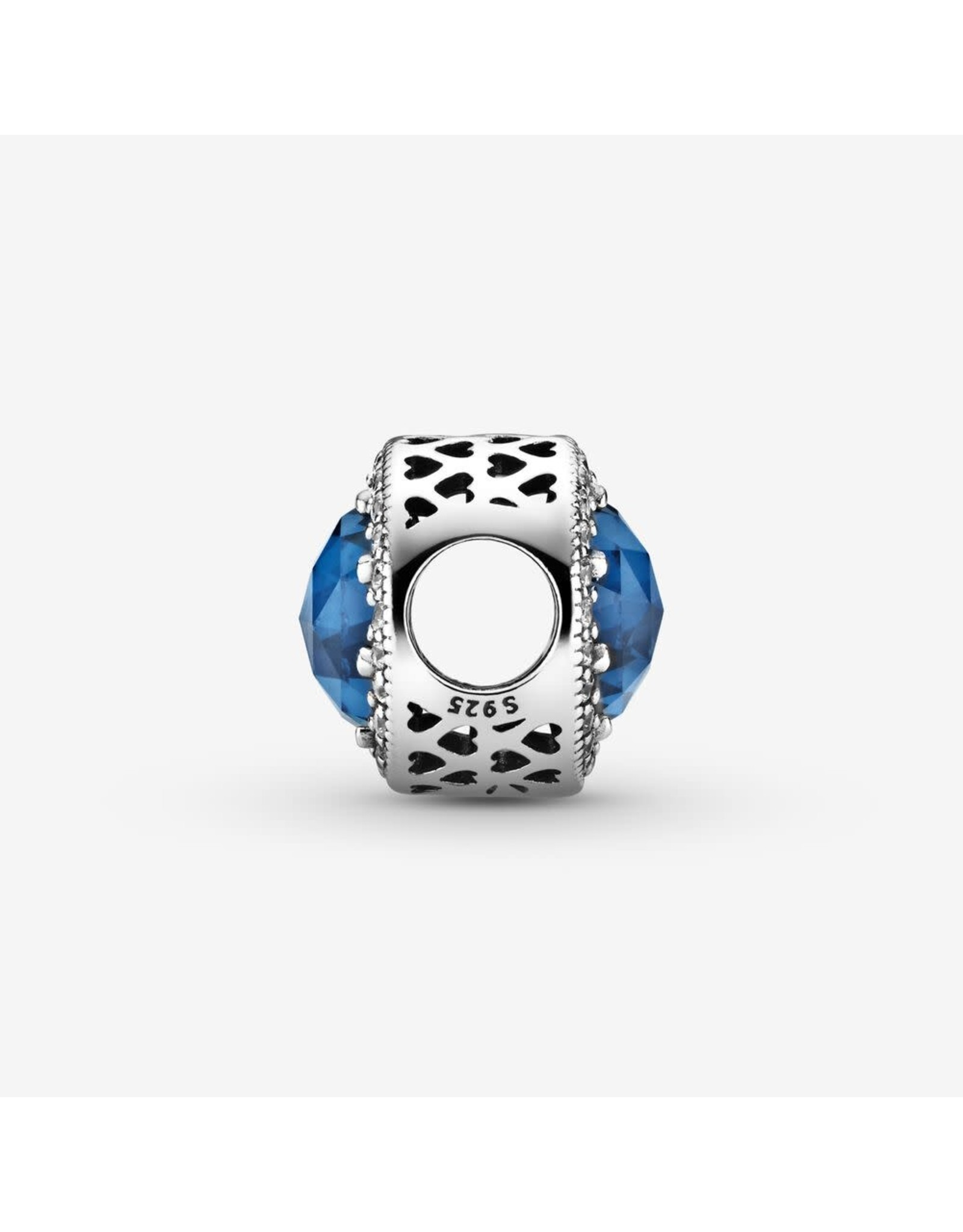 Pandora Pandora Charm Radiant Hearts, Moonlight Blue Crystal And Clear CZ