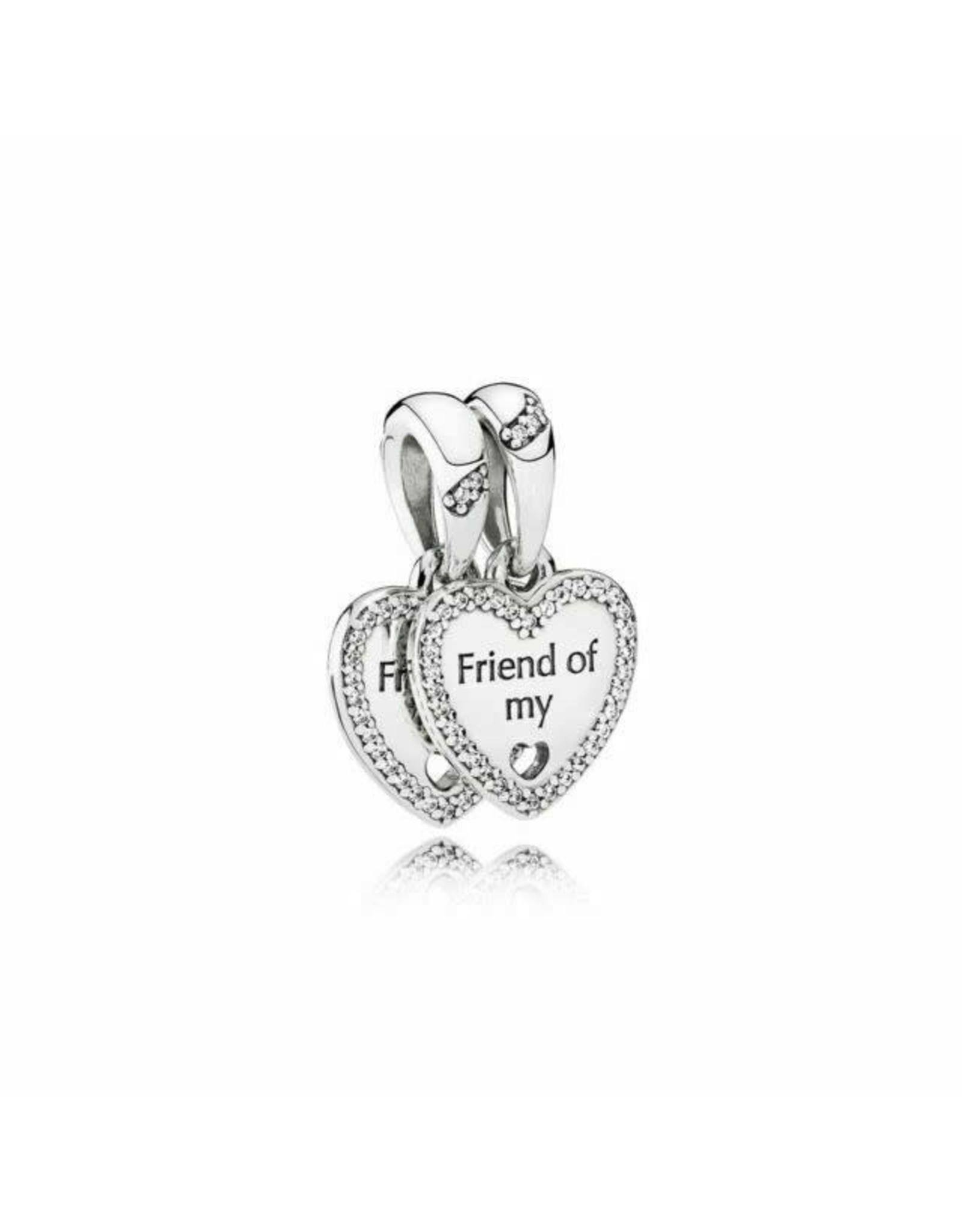 Pandora Pandora Heart 'Friend of my  heart' Split Dangle, Clear CZ