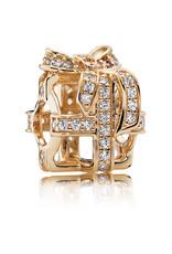Pandora Pandora Charm, 14K Gold All Wrapped Up, Clear CZ