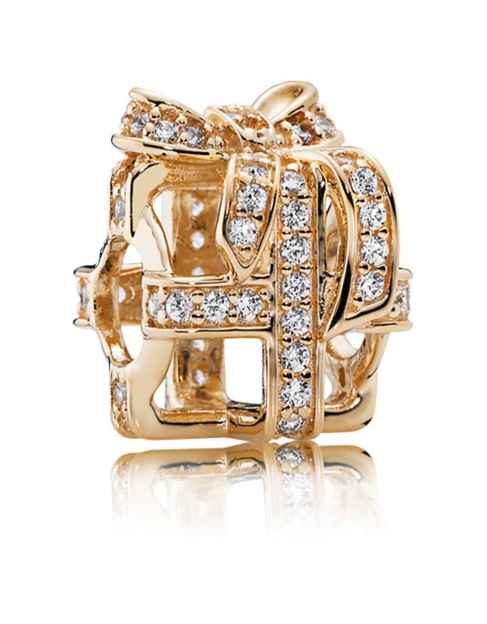Pandora Charm 14k Gold All Wred Up