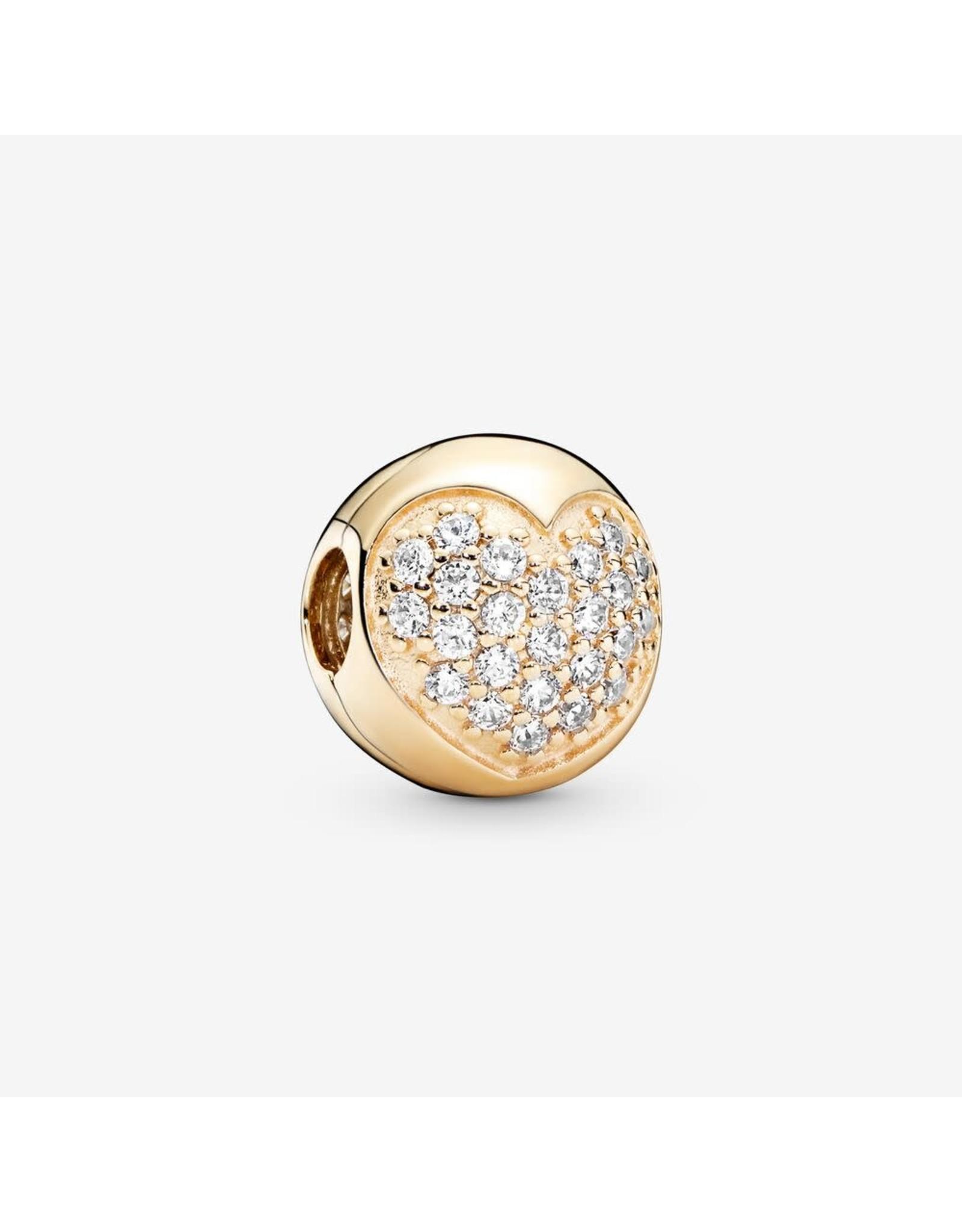 Pandora Pandora Love of My Life, Clear CZ 14K Gold