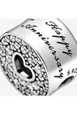 Pandora Pandora Charm,791977CZ, Anniversary Celebration Clear CZ
