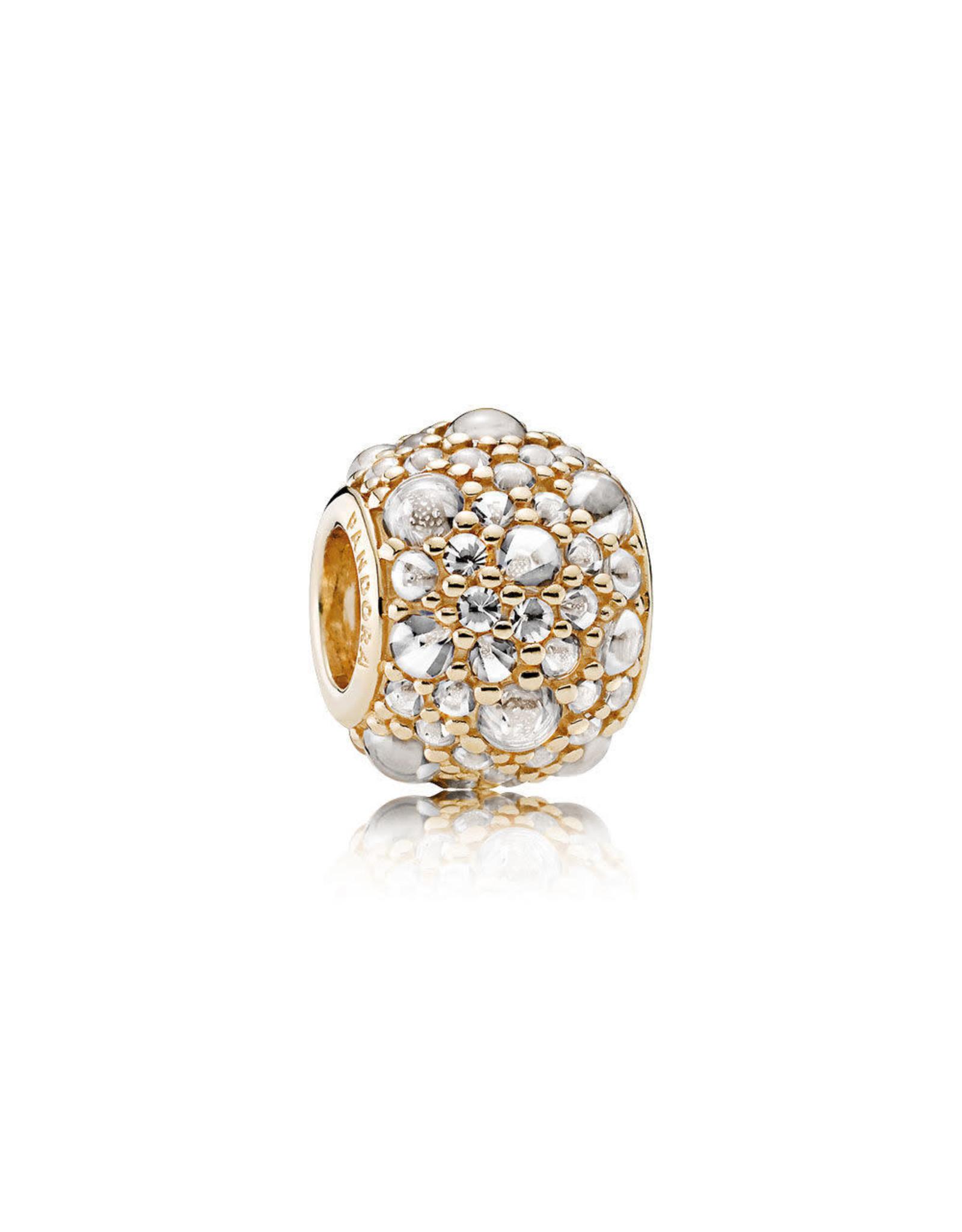 Pandora Panodra Shimmering Droplets, Clear CZ 14K Gold