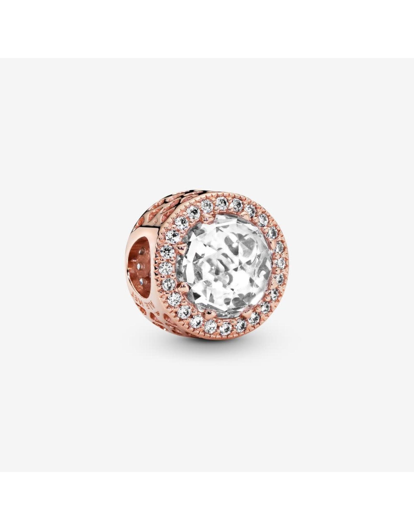 Pandora Pandora Charm Rose Gold Hearts Clear CZ