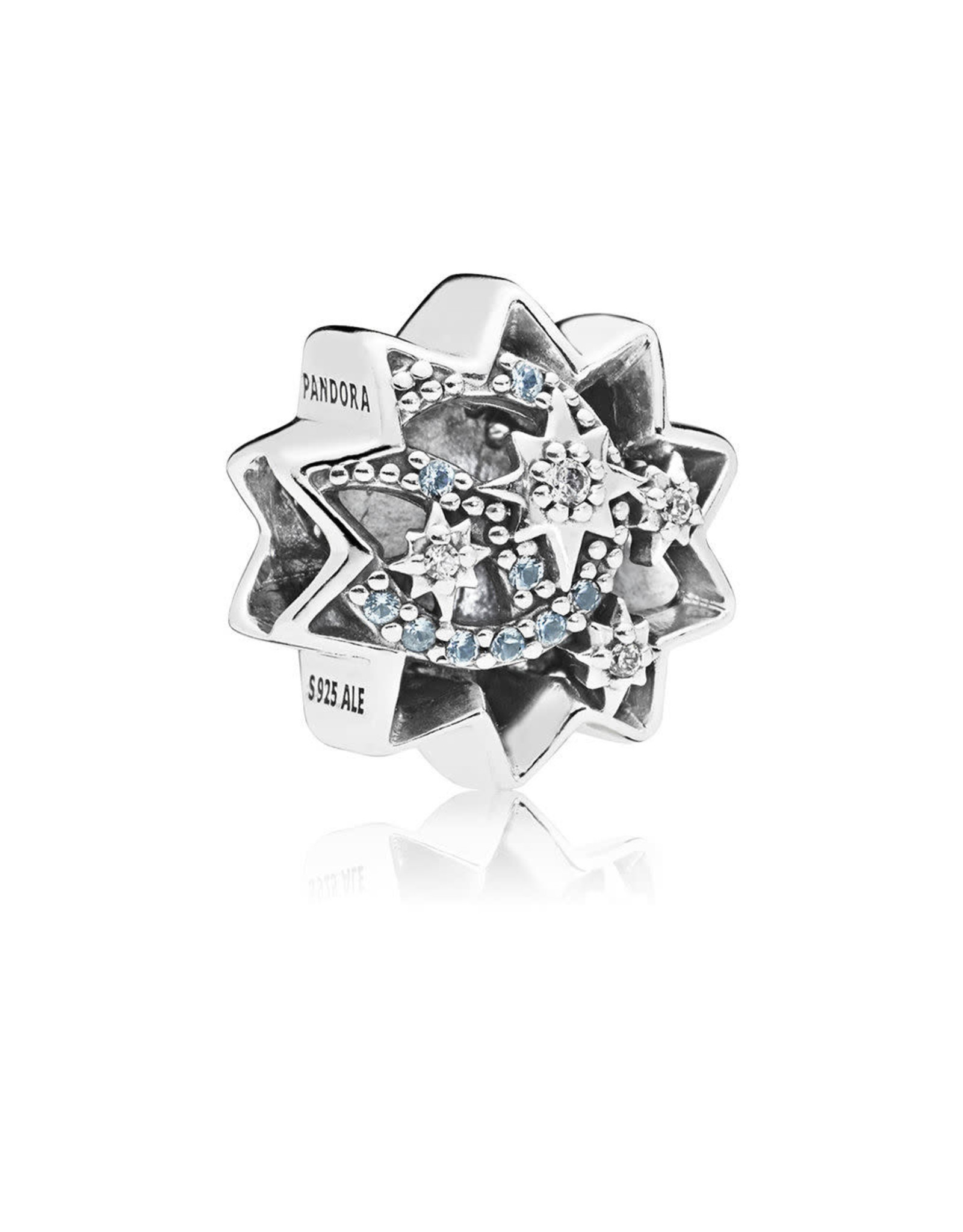 "Pandora Pandora Charm,Disney Star,Light Blue Crystals, Clear CZ""When you wish upon a star"""