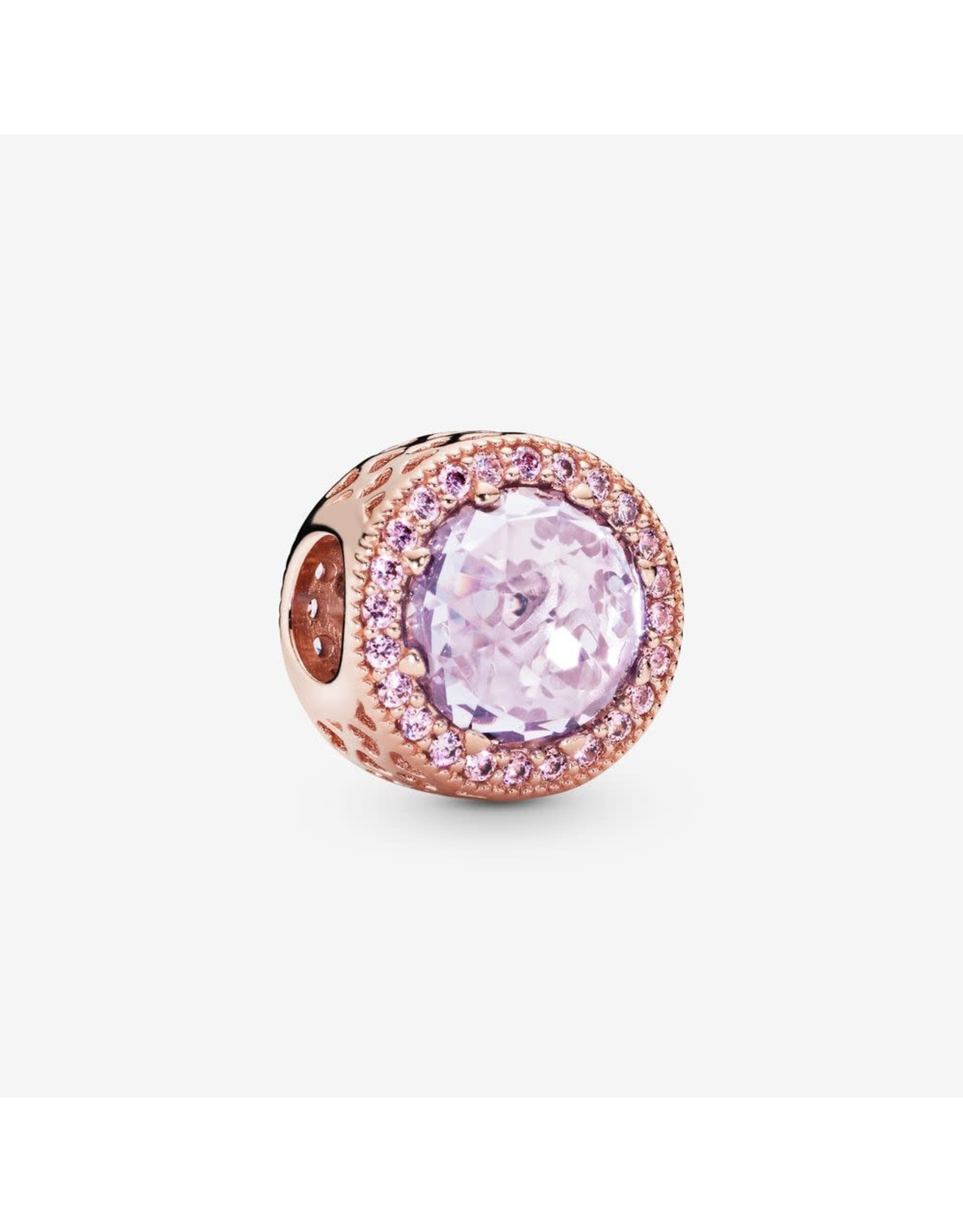 Pandora Pandora Charm Radiant Hearts, Multi-Colored CZ  Rose Gold, Lavender CZ, Pink CZ