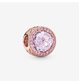 Pandora Pandora Charm Radiant Hearts, Multi-Colored CZ  Rose Gold, Lavender CZ, Pink CZ