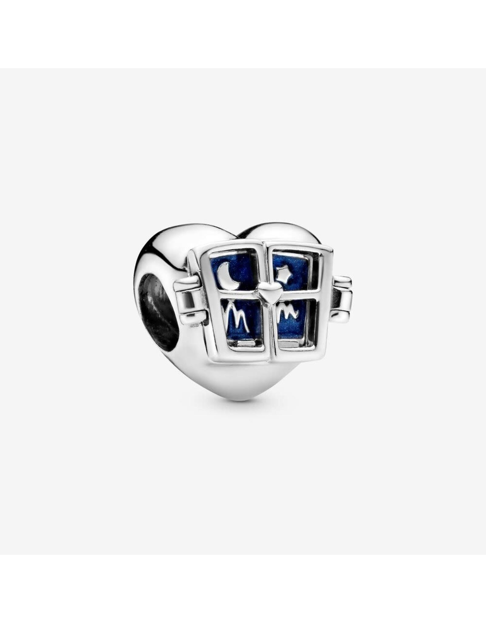 Pandora Pandora Mom Window Heart, Shimmering Midnight Blue Enamel