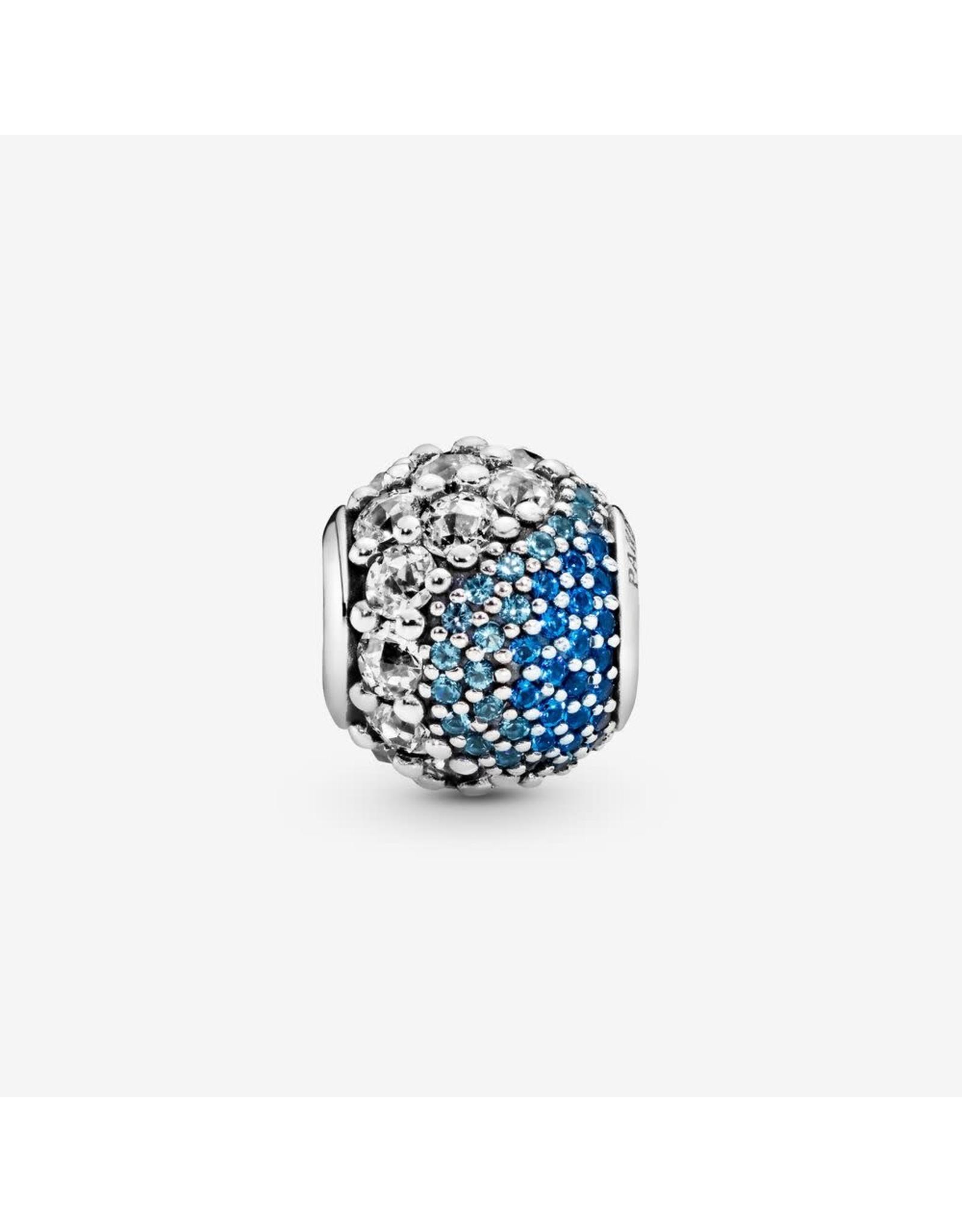 Pandora Pandora Charm Enchanted Pave, Multi-Coloured Crystal & Clear CZ