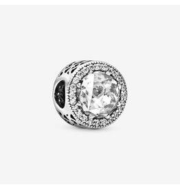 Pandora Pandora Charm, 791725CZ,Radiant Hearts, Clear CZ