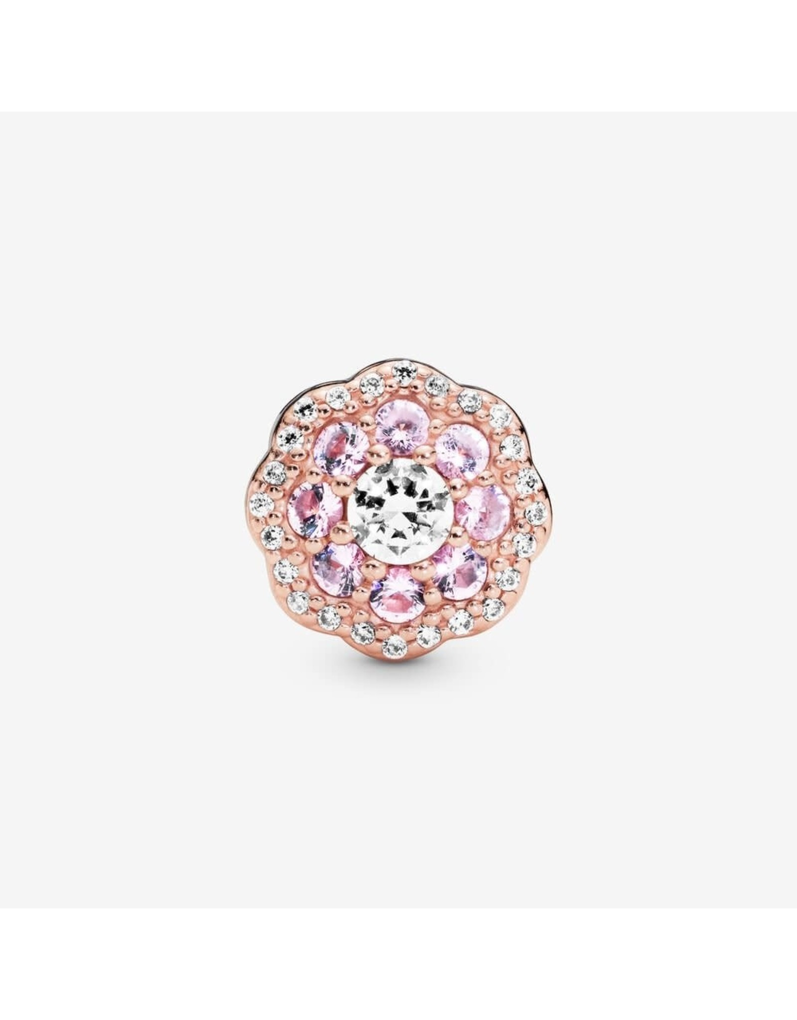 Pandora Pandora Charm Pink Sparkle Flower, Pink Crystals & Clear CZ