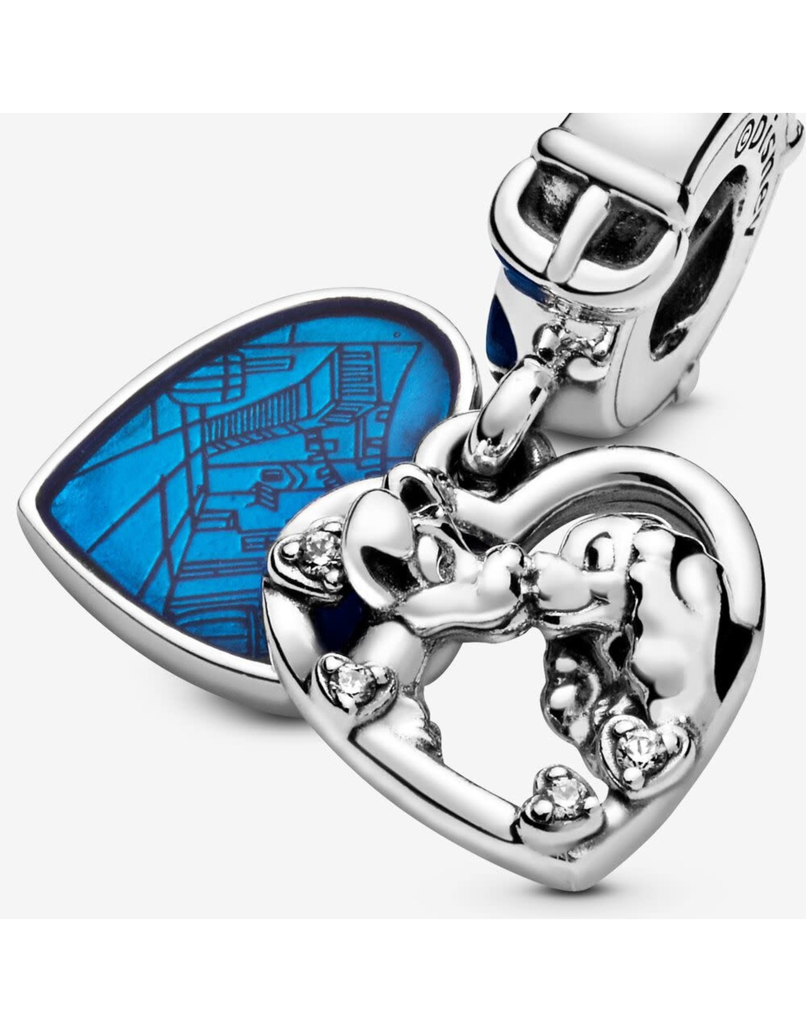 Pandora Pandora Disney Lady And The Tramp Dangle With clear CZ And shimmering Blue Enamel