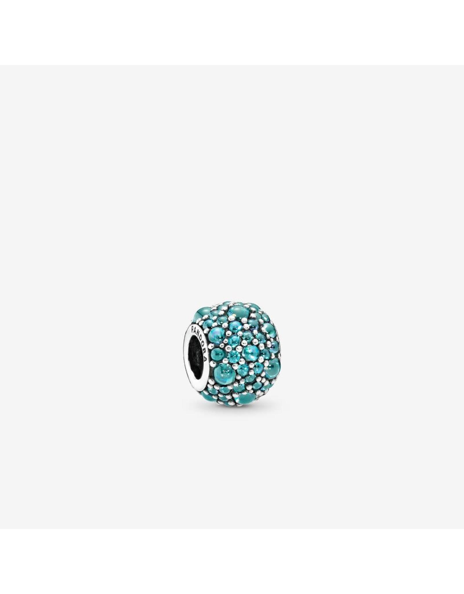 Pandora Pandora Charm Shimmering Droplet With Teal CZ