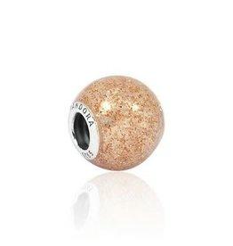 Pandora Pandora Charm Glitter, Rose Golden Glitter Enamel