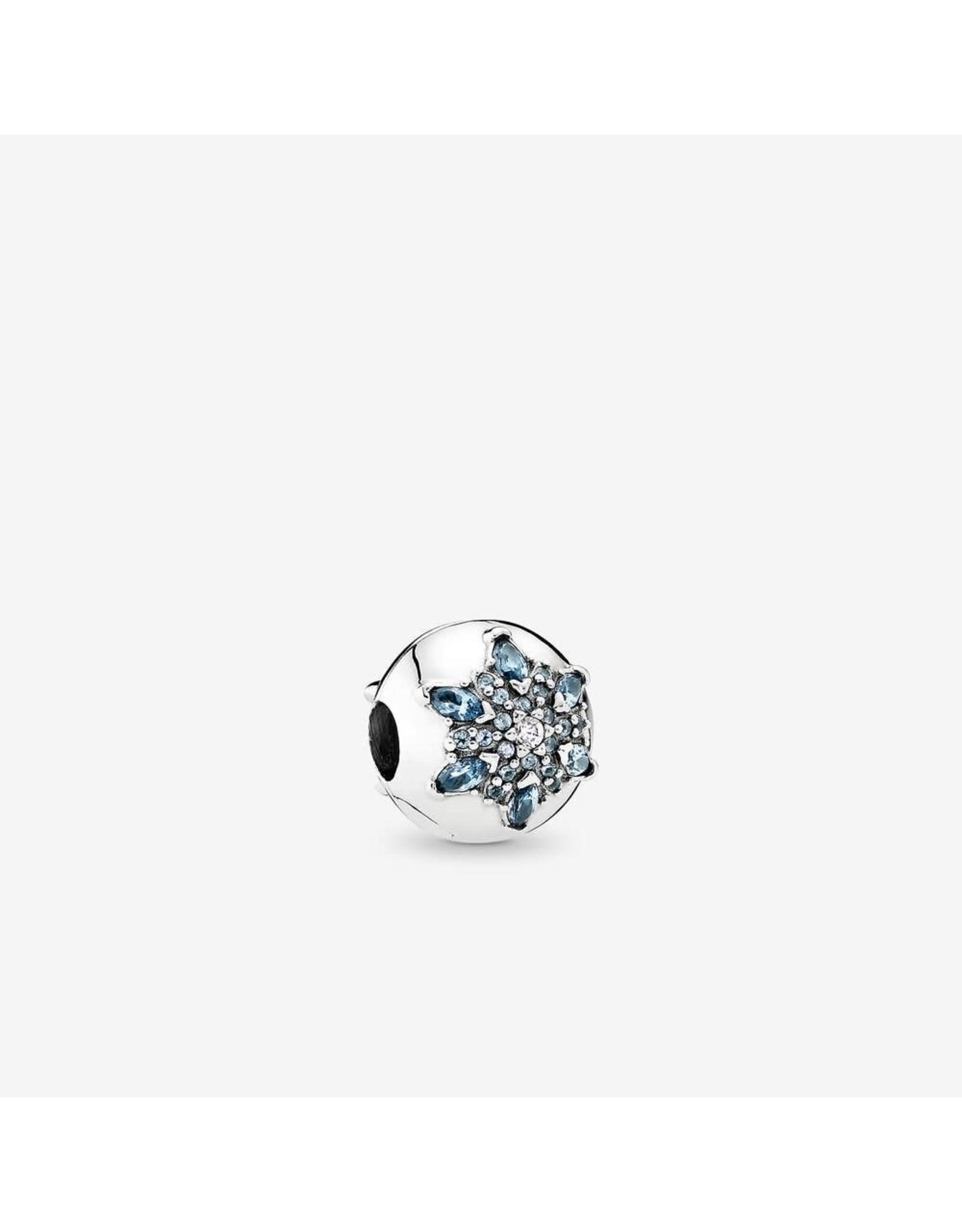 Pandora Pandora Clip, Crystallised Snowflake, Multi-Coloured Crystal & Clear CZ