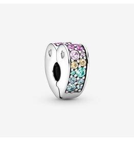Pandora Pandora Clip, Arcs Of Love, Multi-Coloured CZ & Crystals