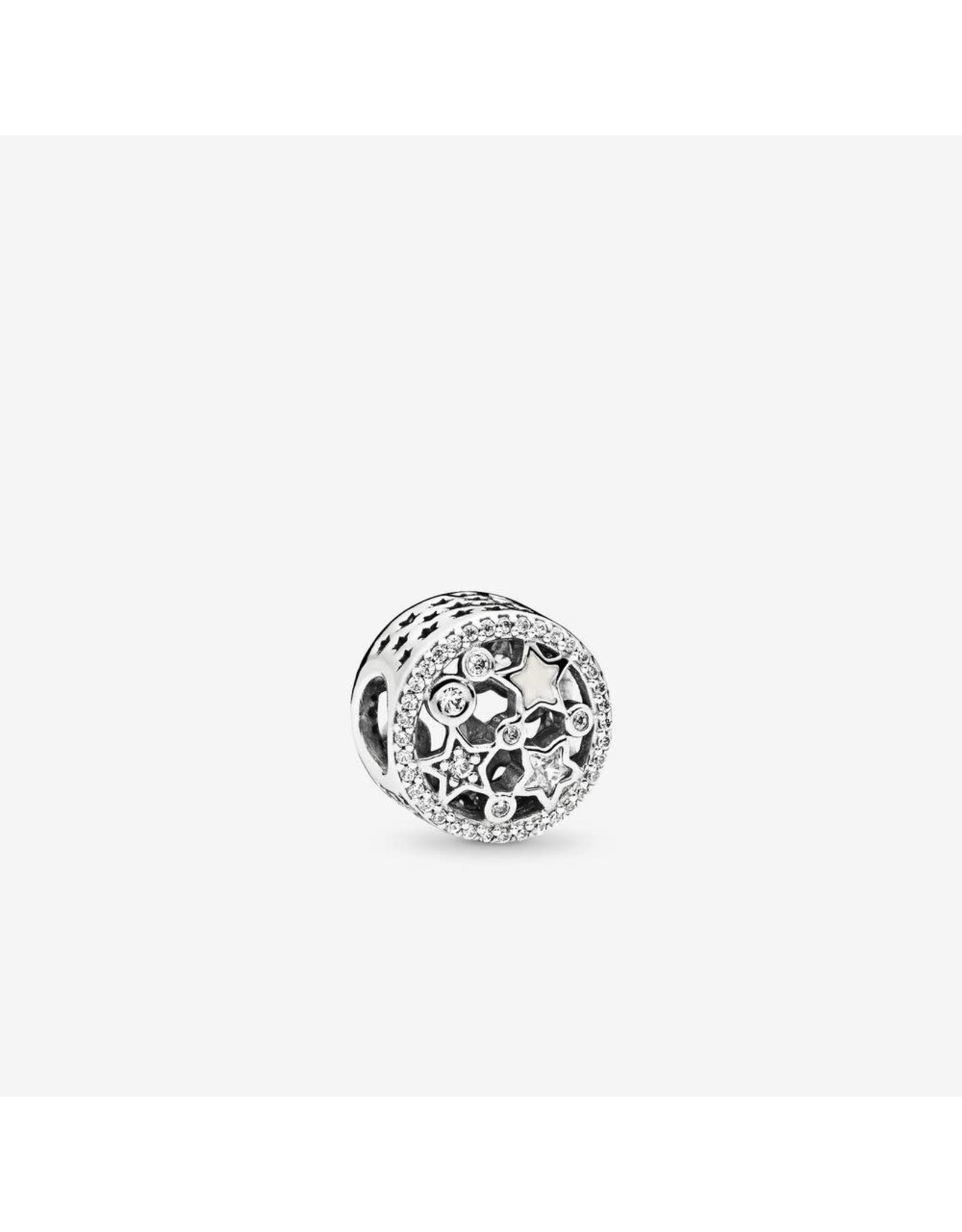 Pandora Pandora Charm Illuminating Stars, Silver Enamlel & Clear CZ