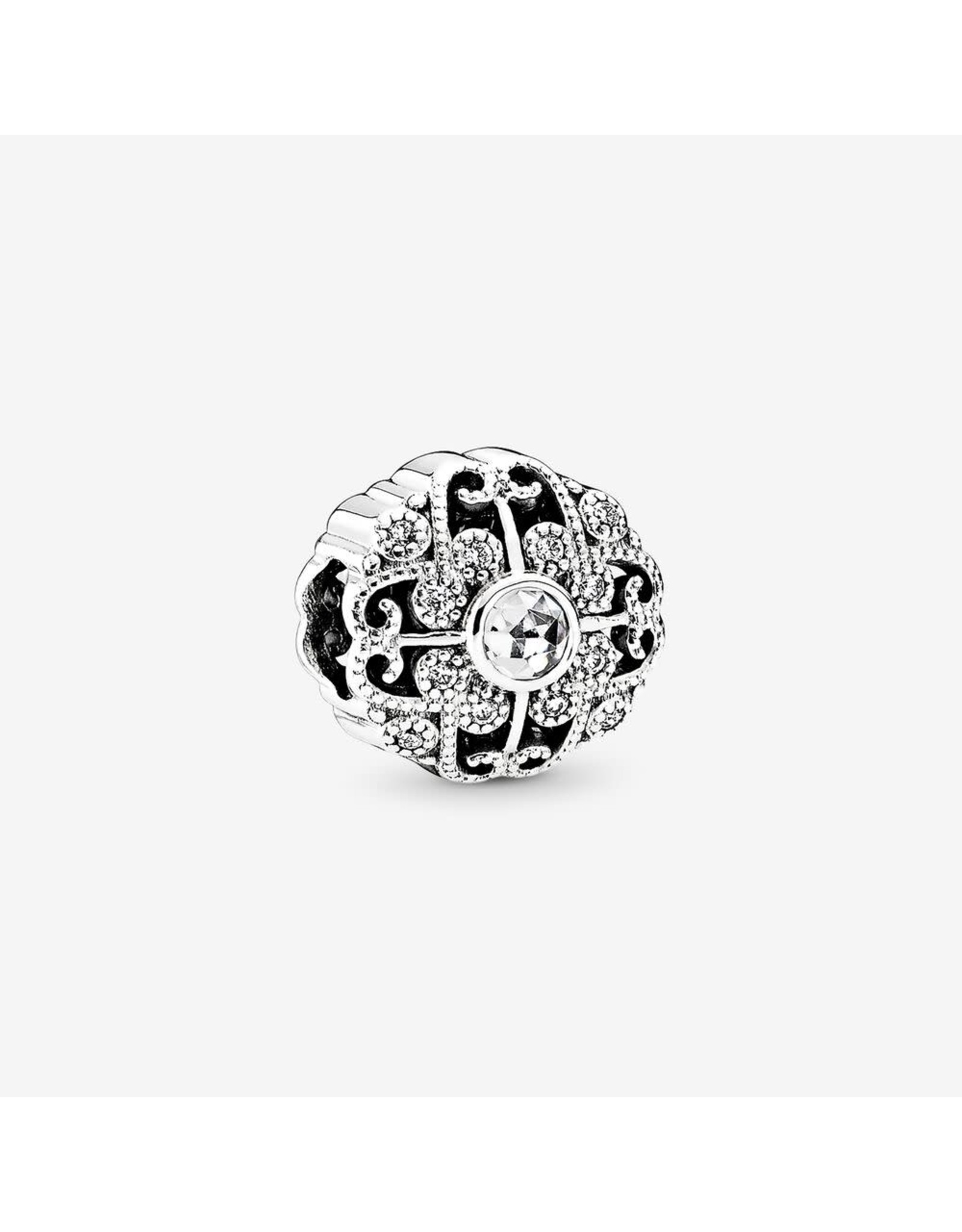 Pandora Pandora Charm Fairytale Bloom, Rose-Cut Clear CZ