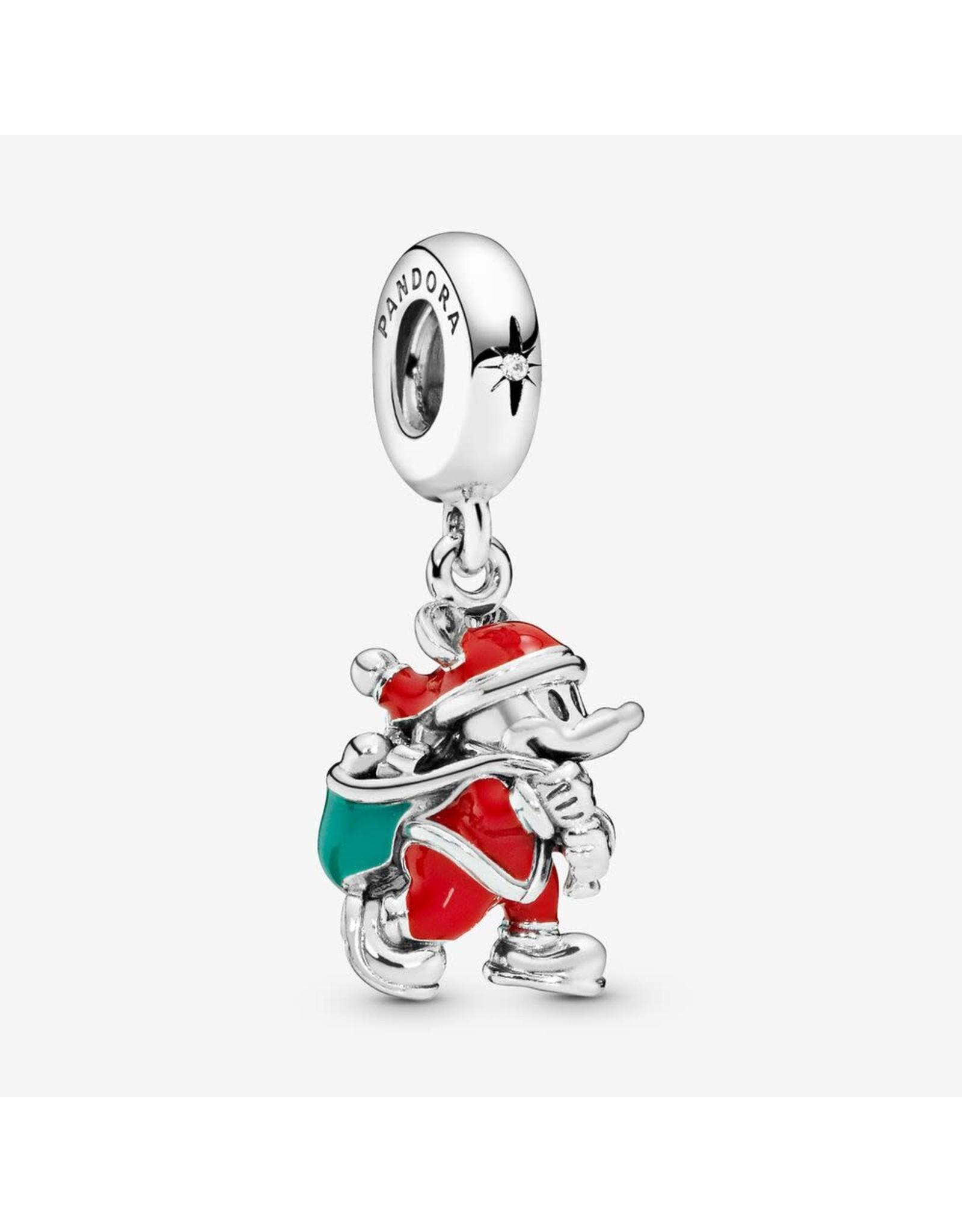 Pandora Pandora Charm, Disney, Santa Mickey & Gift Bag