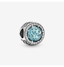 Pandora Pandora Radiant Hearts, Glacier-Blue Crystals & Clear CZ