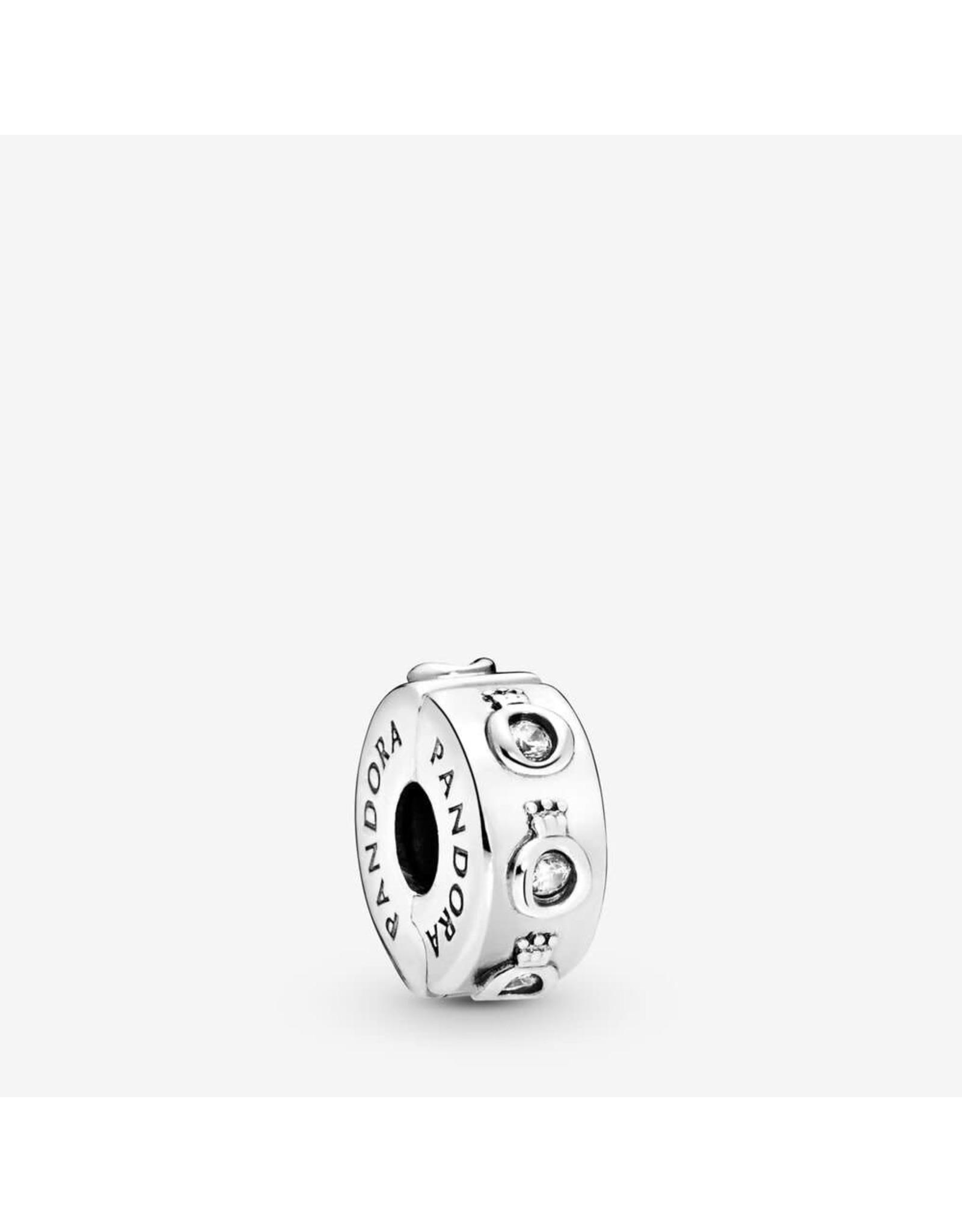 Pandora Pandora Clip, Sparkling Crown O, Clear CZ