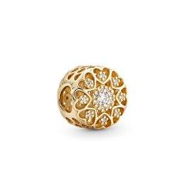 Pandora Pandora Charm Hearts of Gold, 14K Gold, Clear Clear CZ
