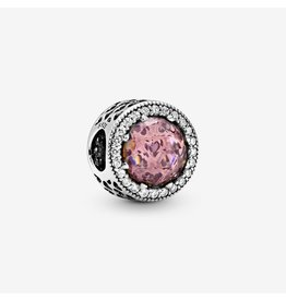Pandora Pandora Charm Radiant Hearts, Blush Pink Crystal & Clear CZ