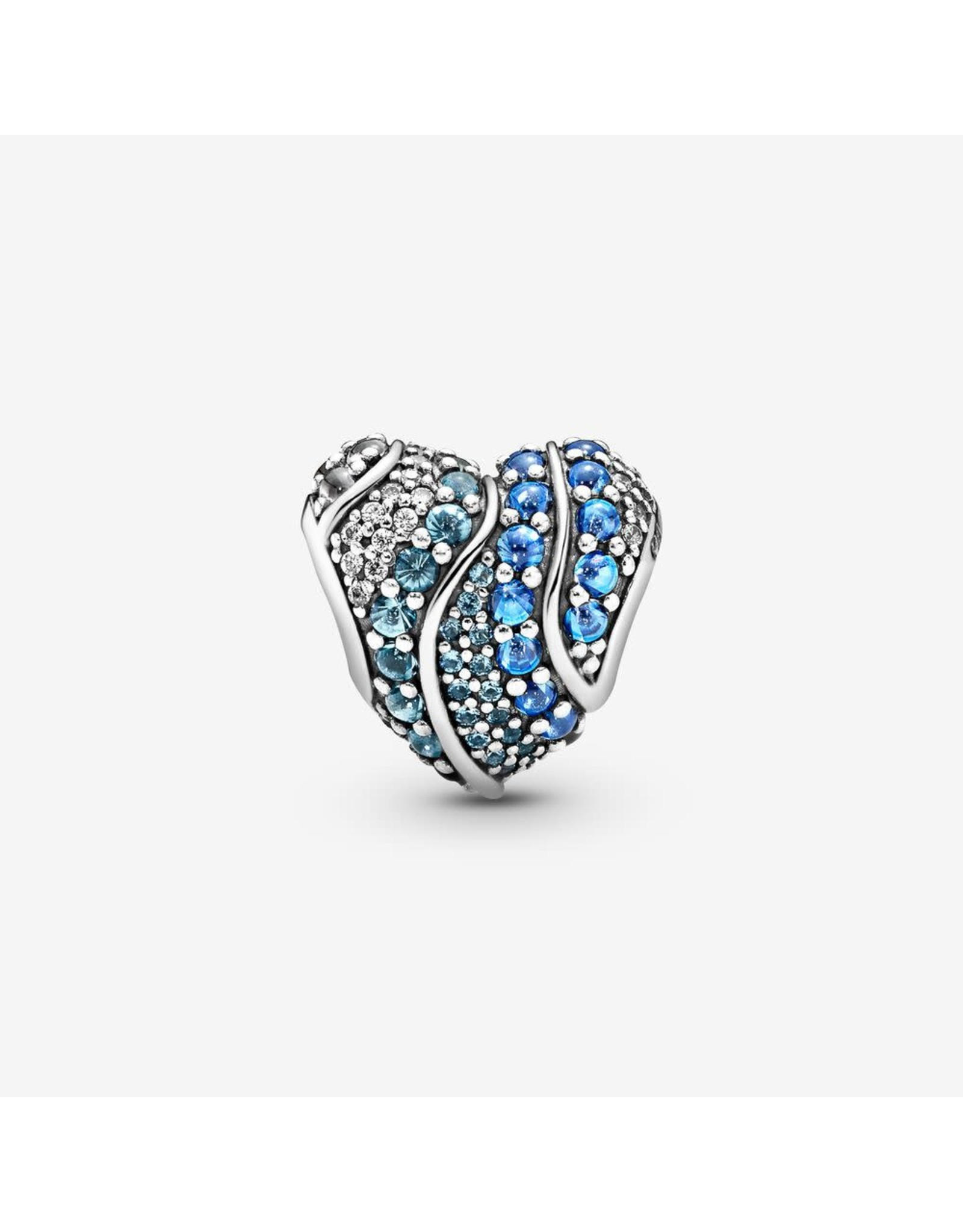 Pandora Pandora Charm Aqua Heart, Multi- Coloured CZ & Crystals