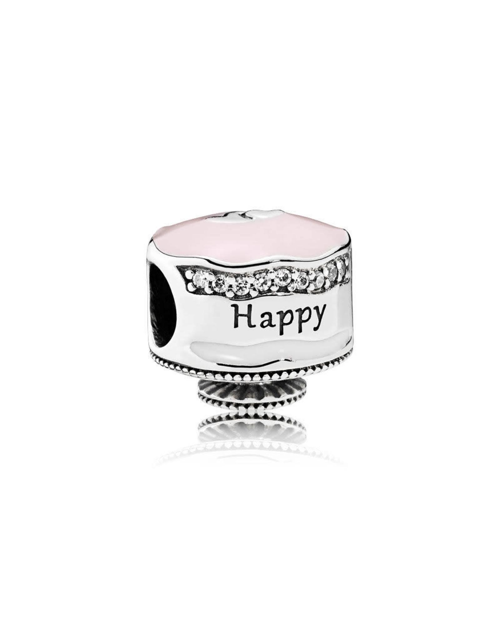 Pandora Pandora Happy Birthday Cake, Mixed Enamel & Clear CZ