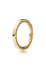 Pandora Pandora Ring 54, 14K Gold, Classic hearts Of Pandora
