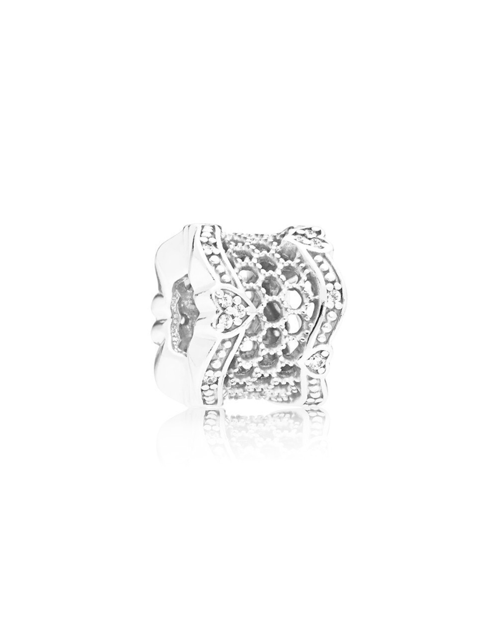 Pandora Pandora Charm Lace Of Love, Clear CZ