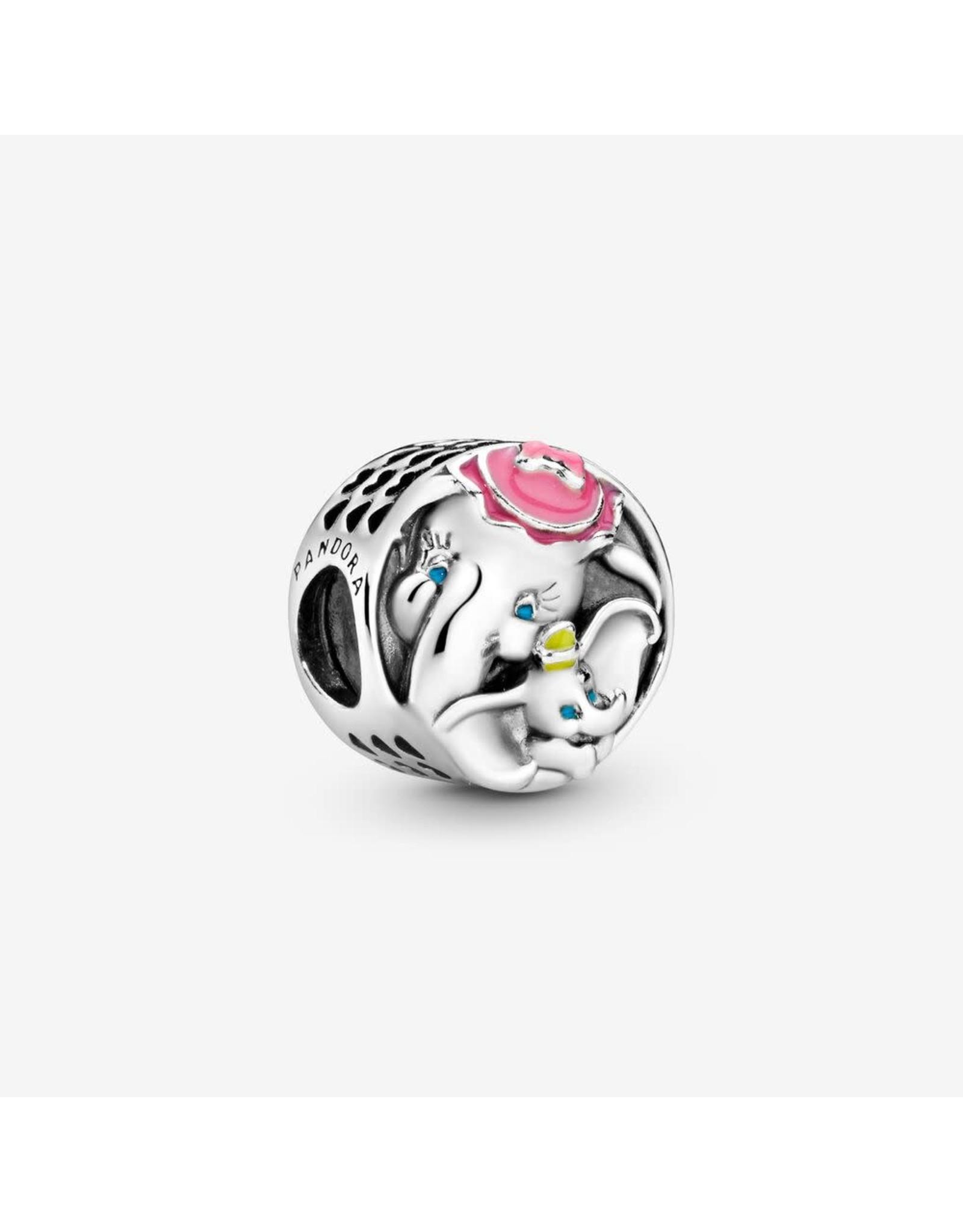 Pandora Pandora Charm, Disney, Dumbo & Mrs. Jumbo, Pink, Blue & Yellow Enamel